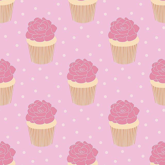 Sweet cupcakes topped with roses.  #cupcakes #cake #dessert #afternoontea #teaparty #gardenparty #hightea #poshtea #pink #teatime #treat #yummy #Teaparty #afternoonteatime #englishtea #rose #polkadot #pattern #illustration #designerbyheart