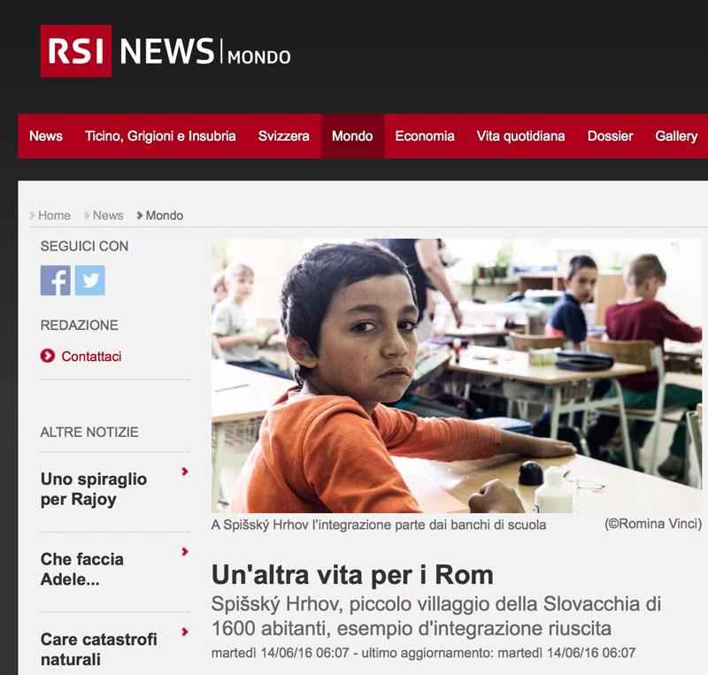 RSI - Radio Televisione Svizzera - June 2016