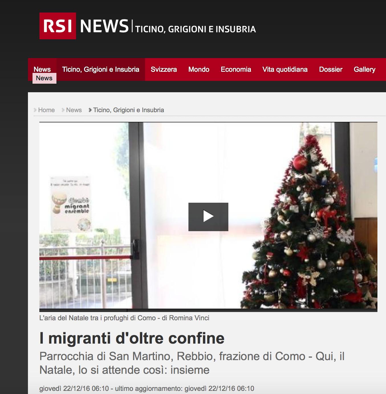 RSI - Radio Televisione Svizzera - December 2016