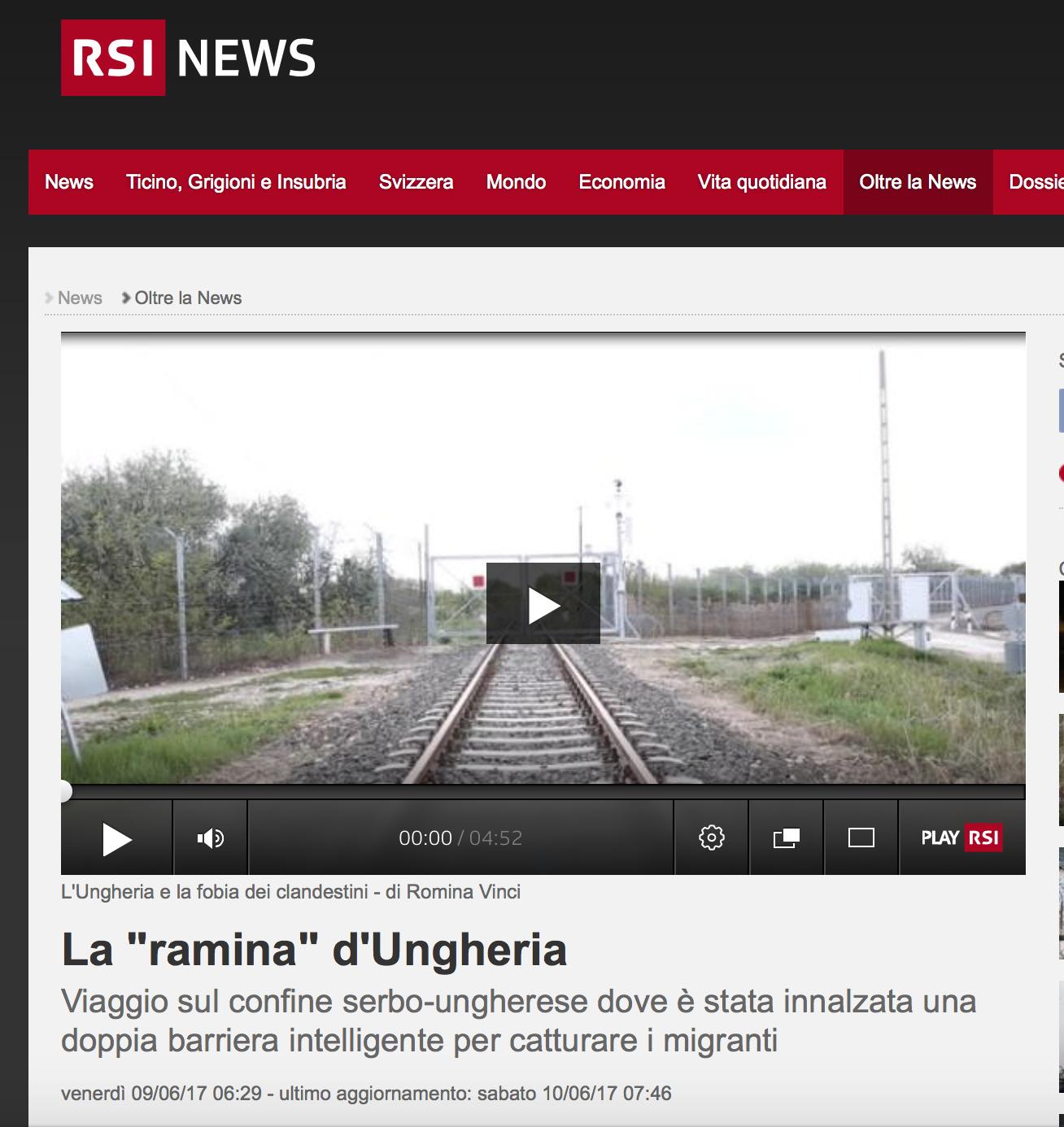 RSI - Radio Televisione Svizzera - June 2017