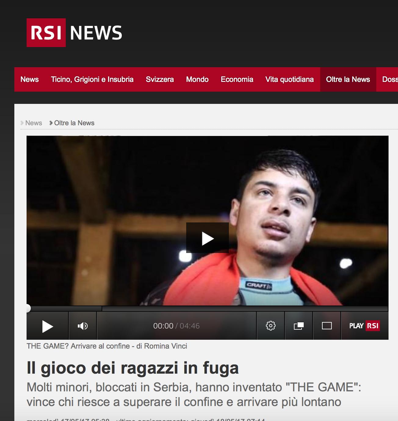 RSI - Radio Televisione Svizzera - May 2017