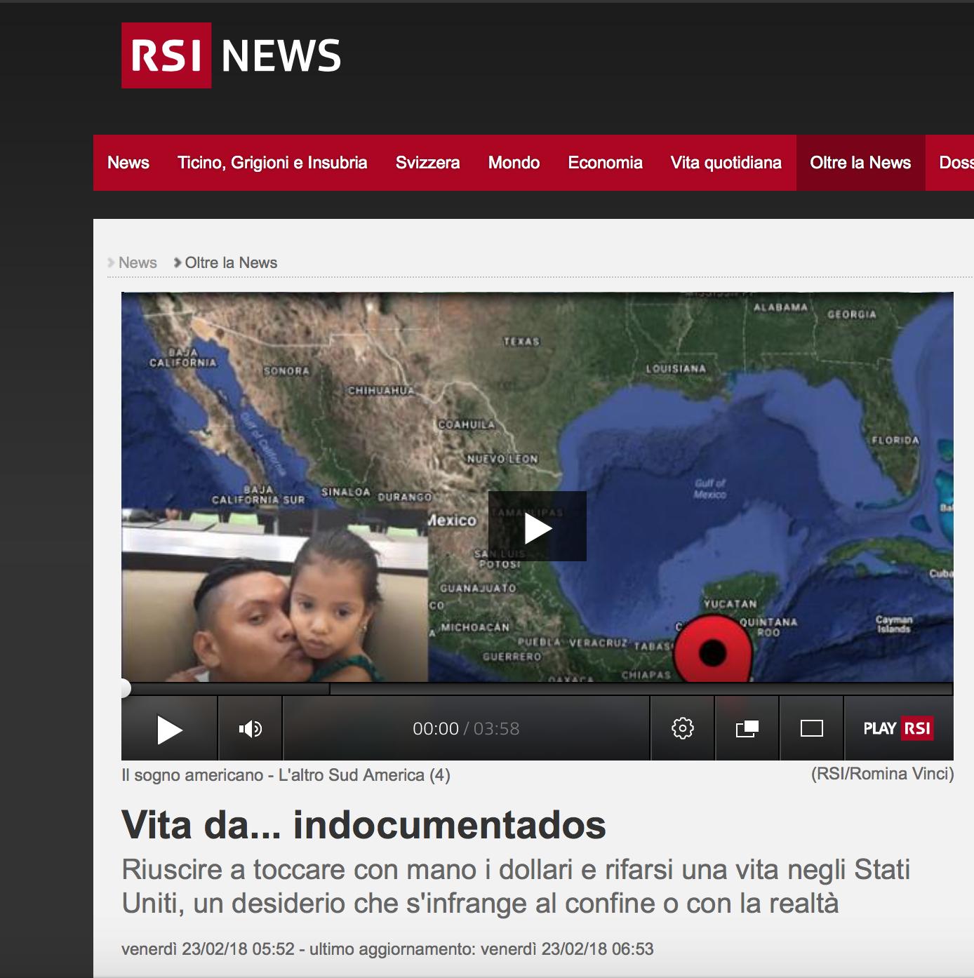 RSI - Radio Televisione Svizzera - February 2018