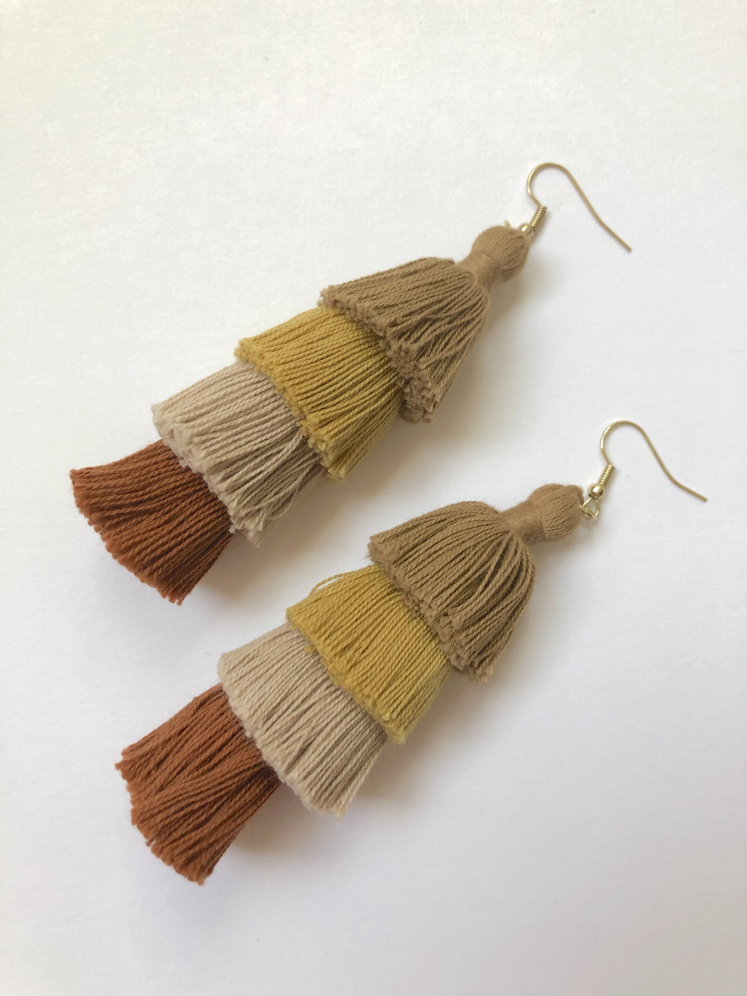 DIY Layered Tassel Earrings