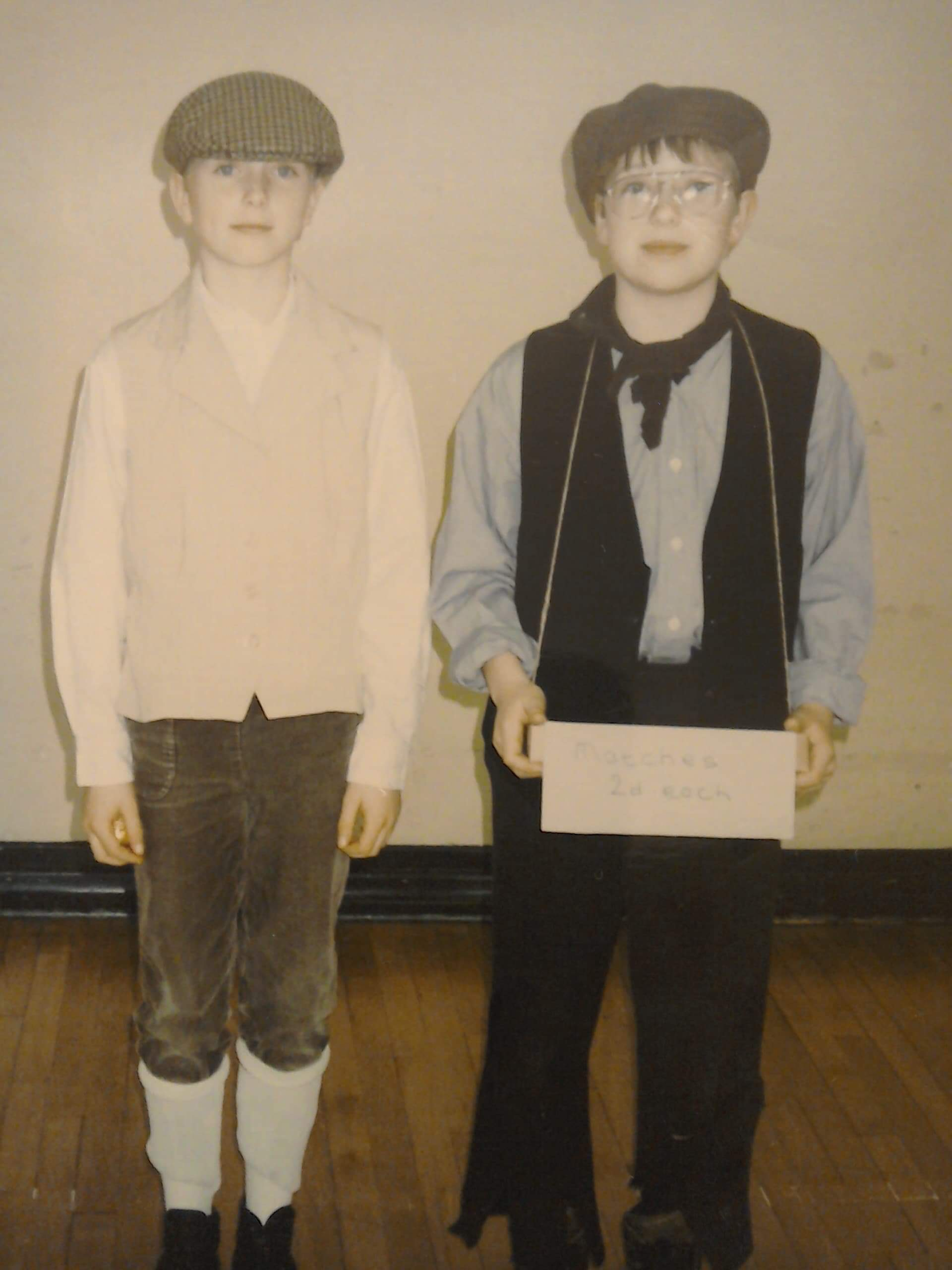 Me (on the right) and Raymond. He recently sent me this picture… LOOK HOW YOUNG AND PALE WE WERE! Apparently, I am a Victorian child. This is how old I am.