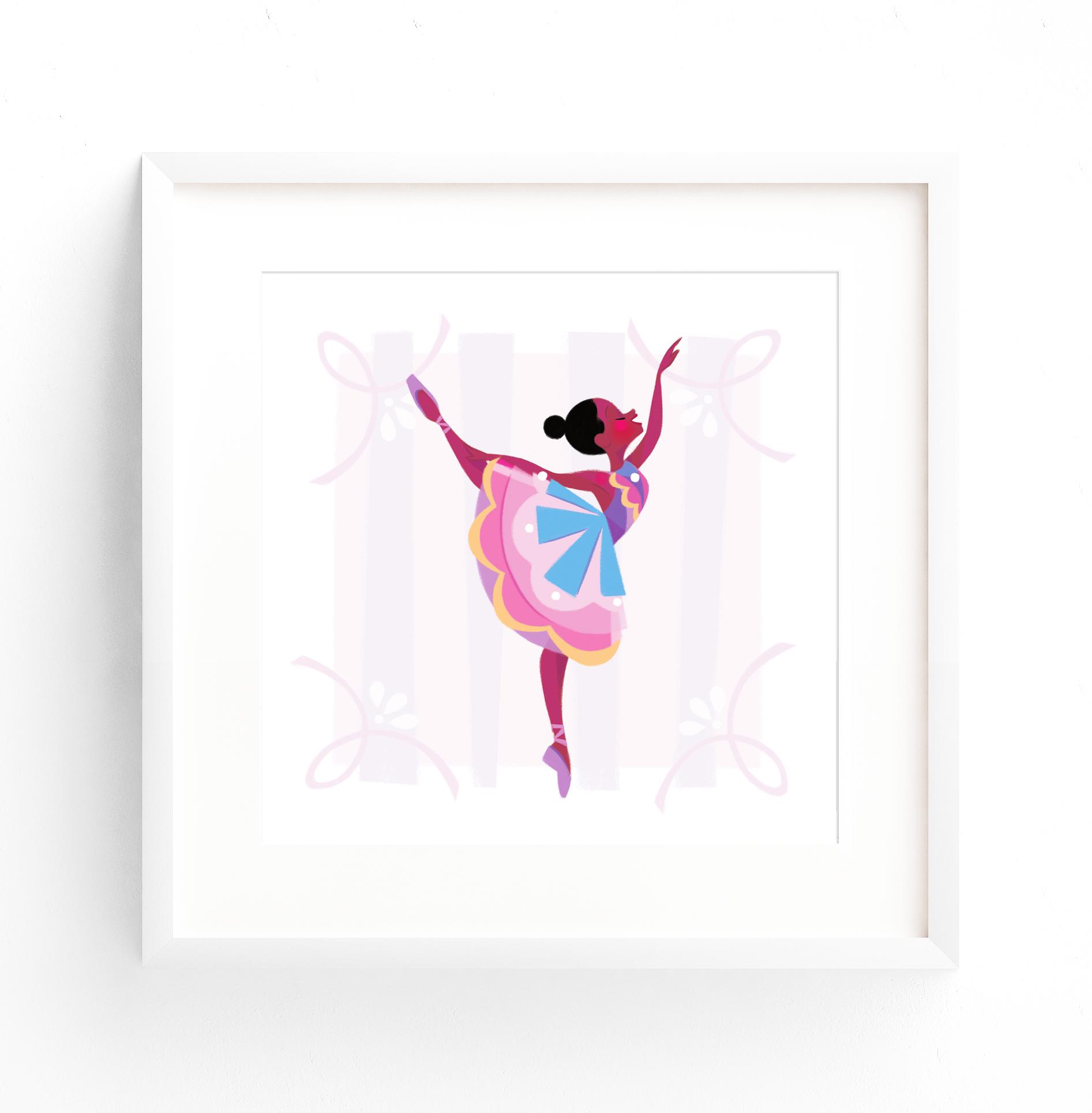 Ballerina 2 White Square Frame.jpg