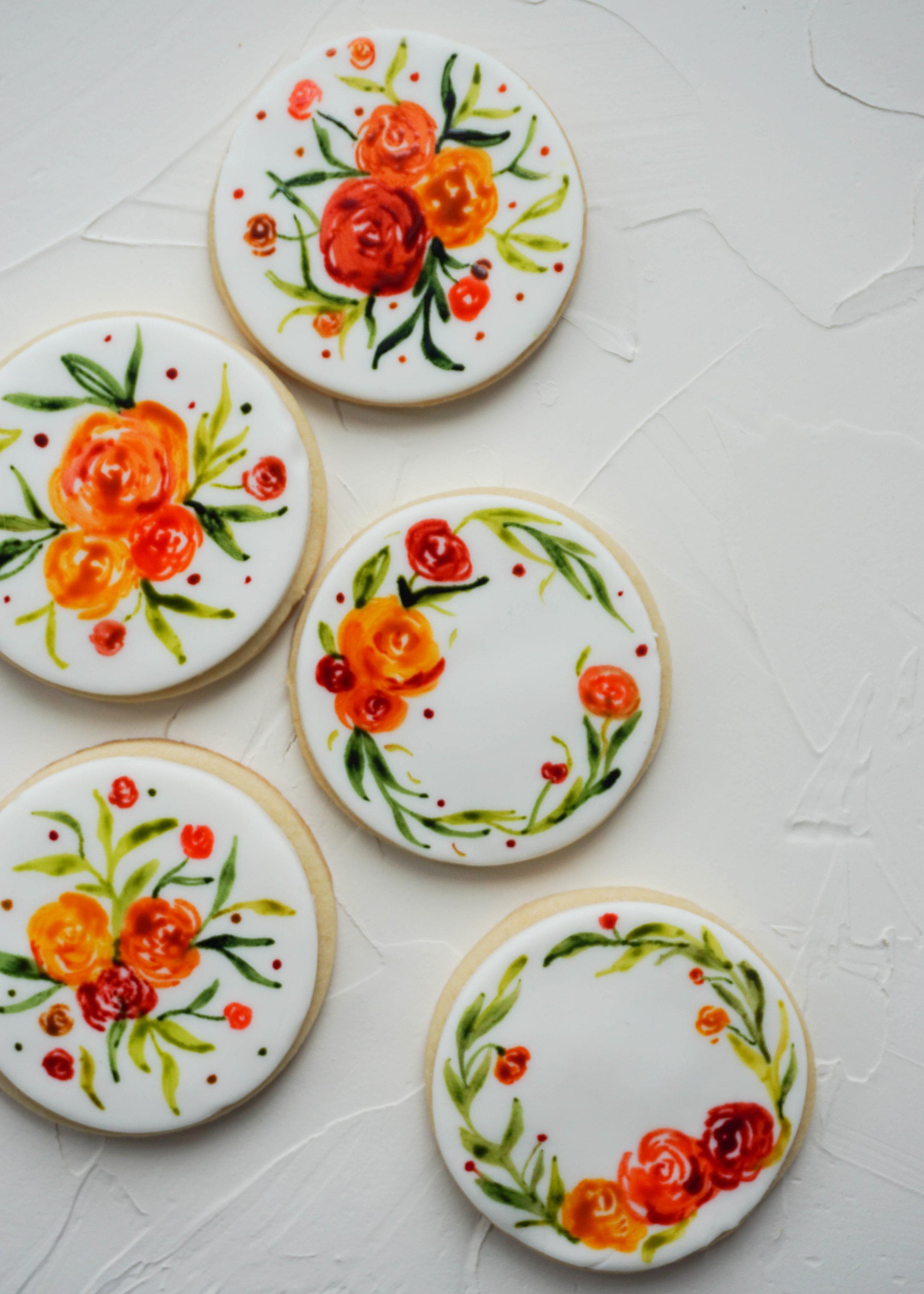 Watercolor Sugar Cookies