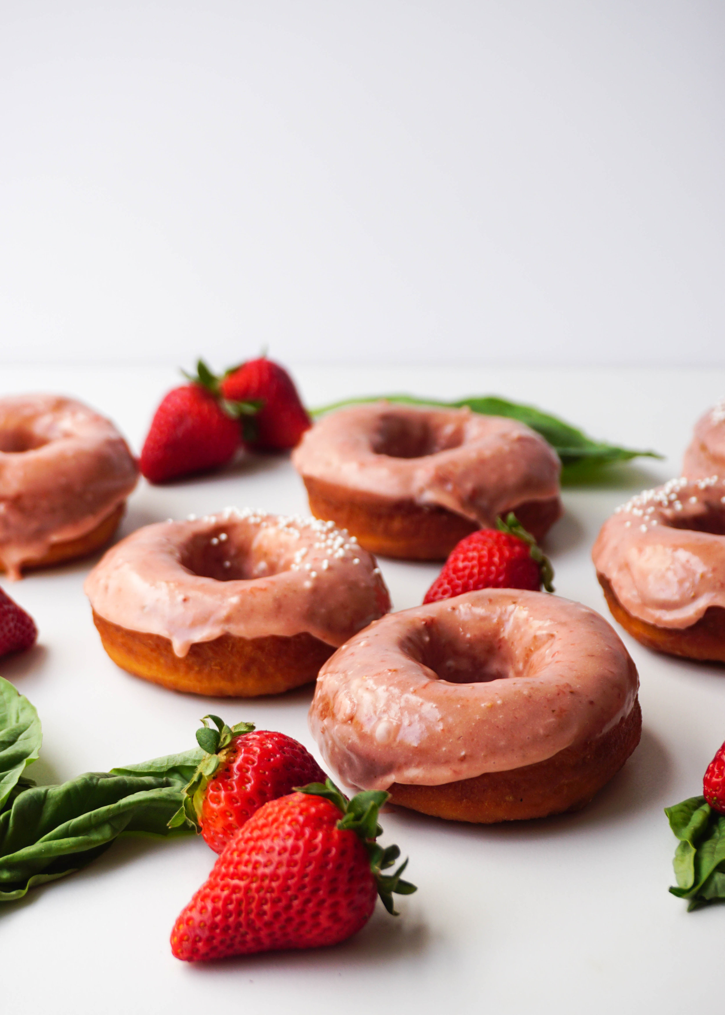 Strawberry Basil Donuts