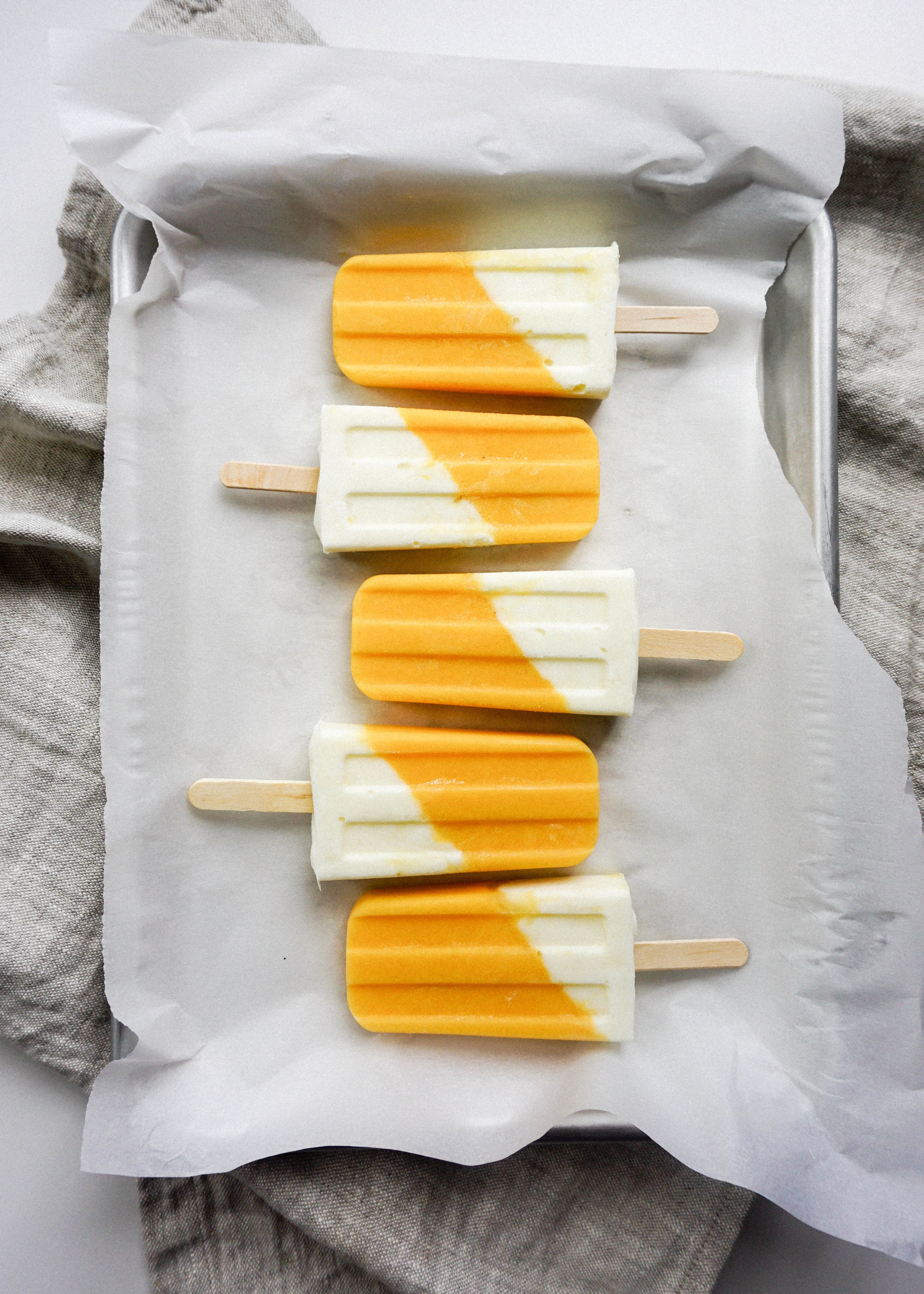 Coconut Cantaloupe Popsicles