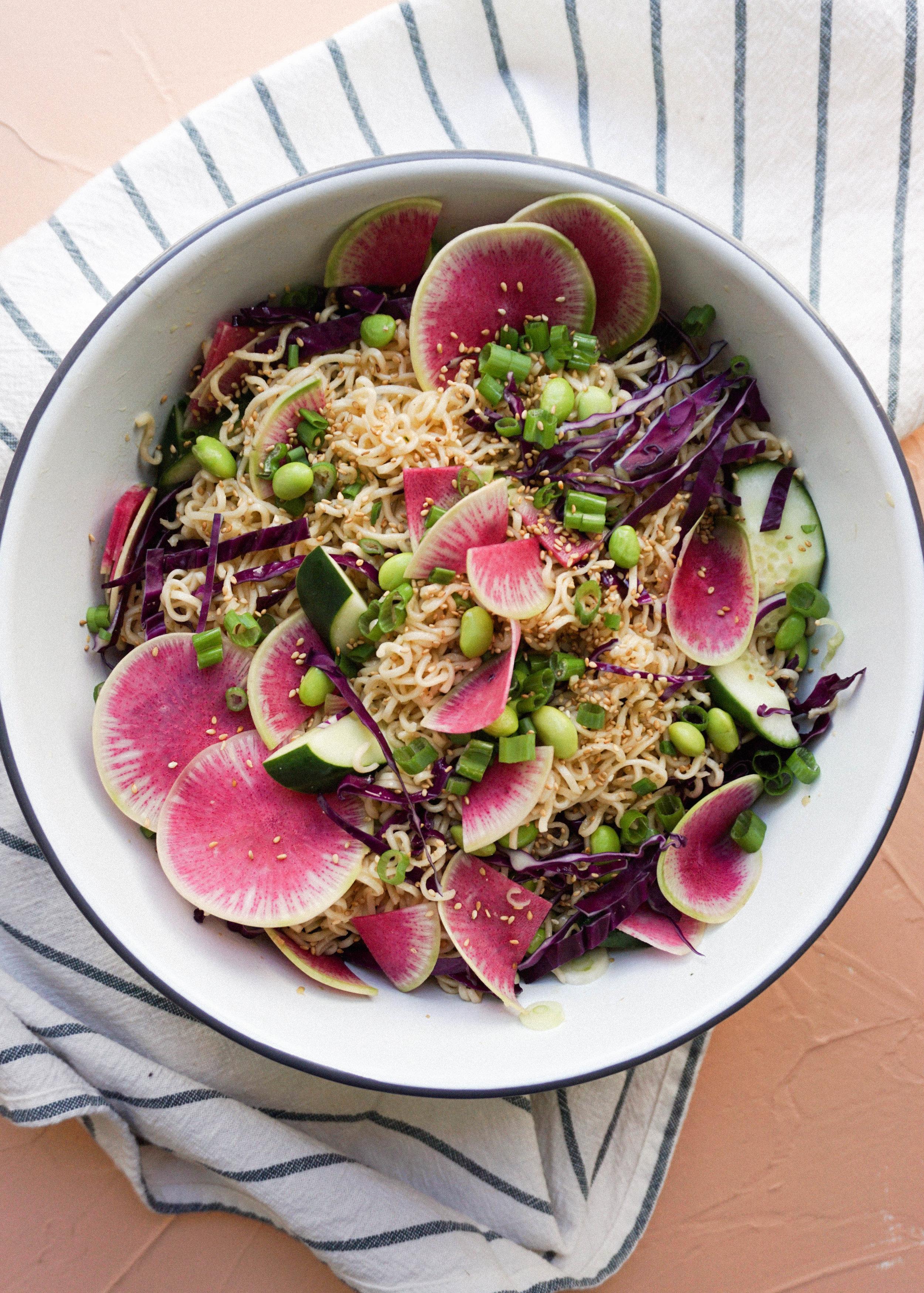 Instant Ramen Pasta Salad