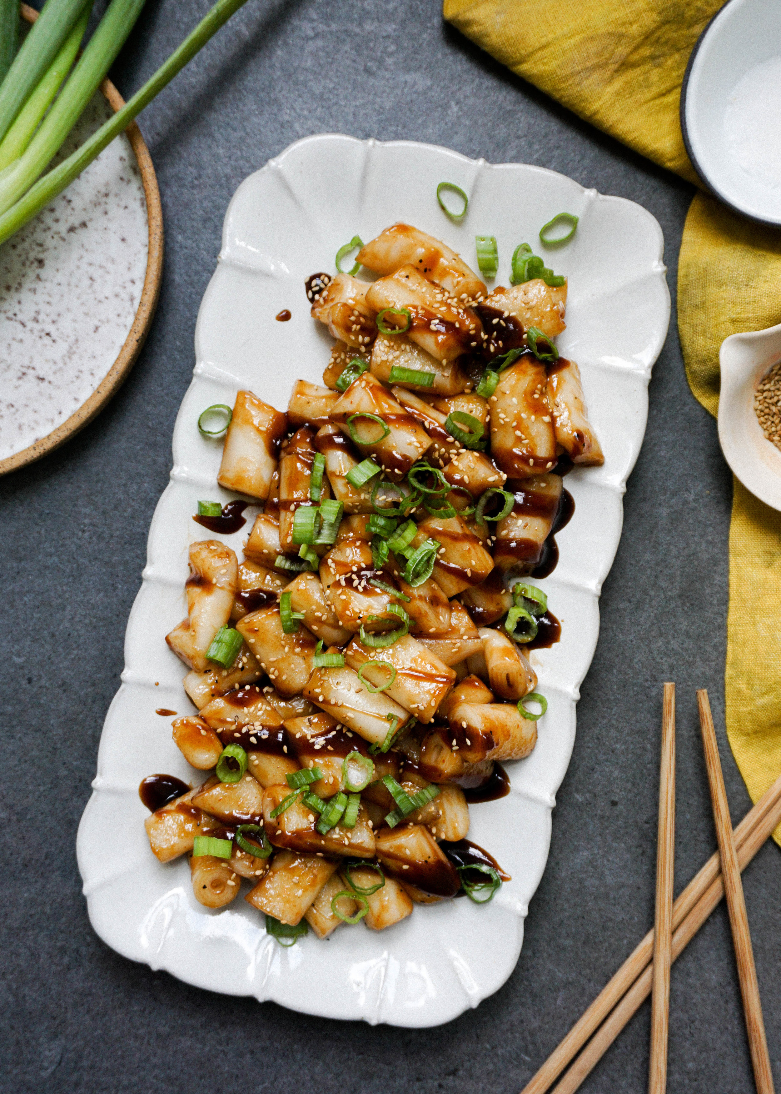 Pan Seared Cheung Noodle Rolls