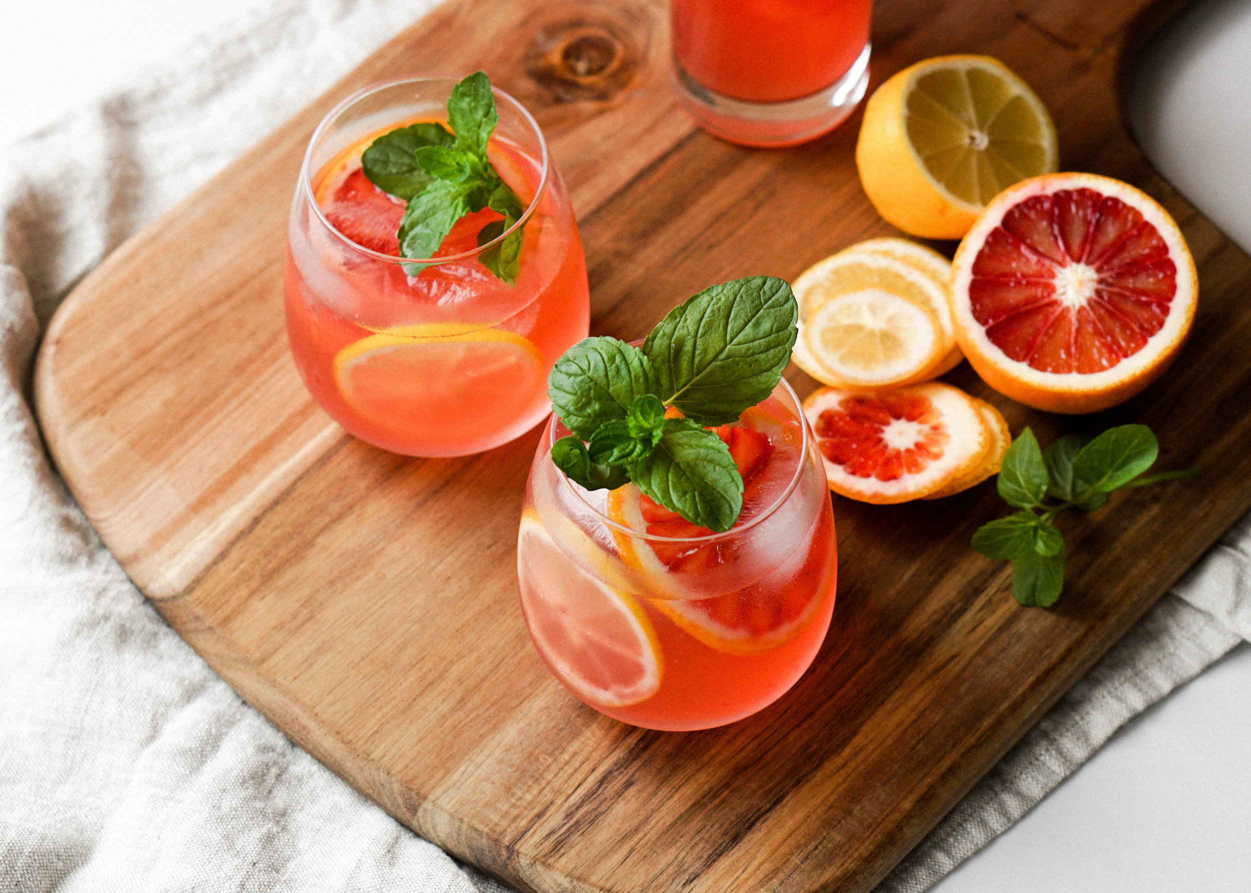 Easy and Simple Blood Orange and Mint Lemonade https://eatchofood.com/blog/2019/1/13/blood-orange-and-mint-lemonade