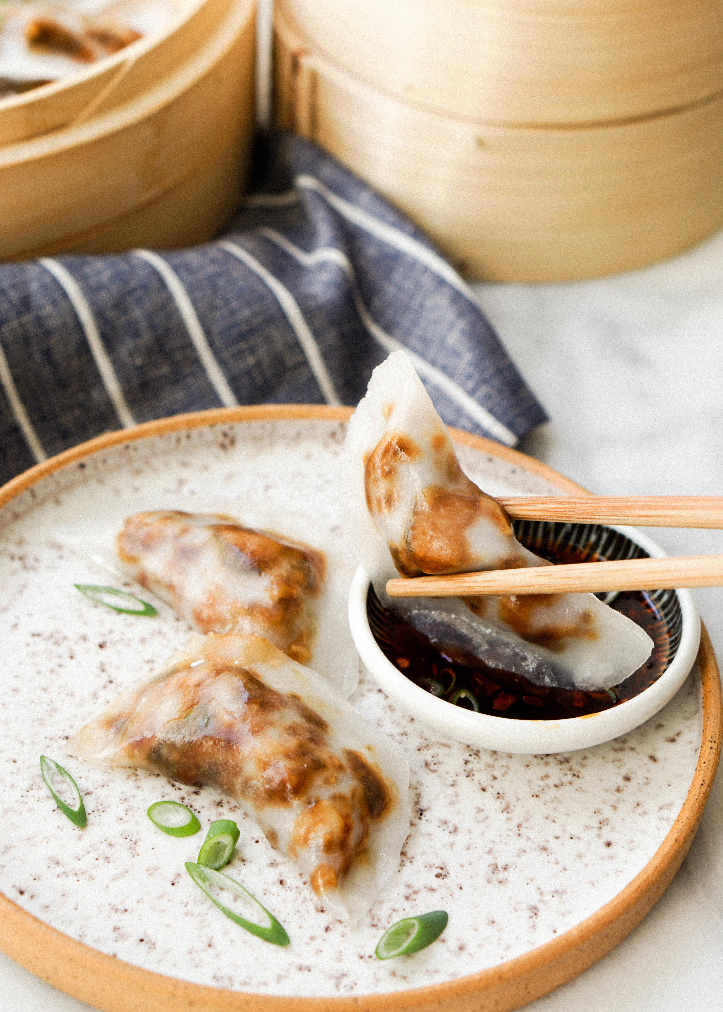 Crystal Mushroom Dumplings // https://eatchofood.com/blog/2019/1/20/crystal-mushroom-dumplings Gluten Free