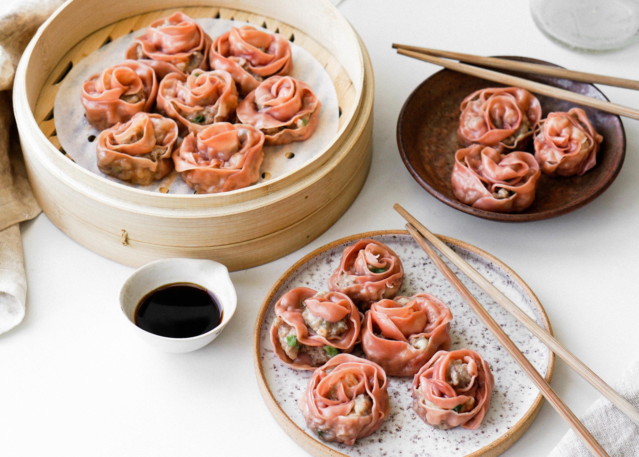 Pork and Shrimp Rose Siu Mai Dumplings https://eatchofood.com/blog/2019/2/1/rose-siu-mai