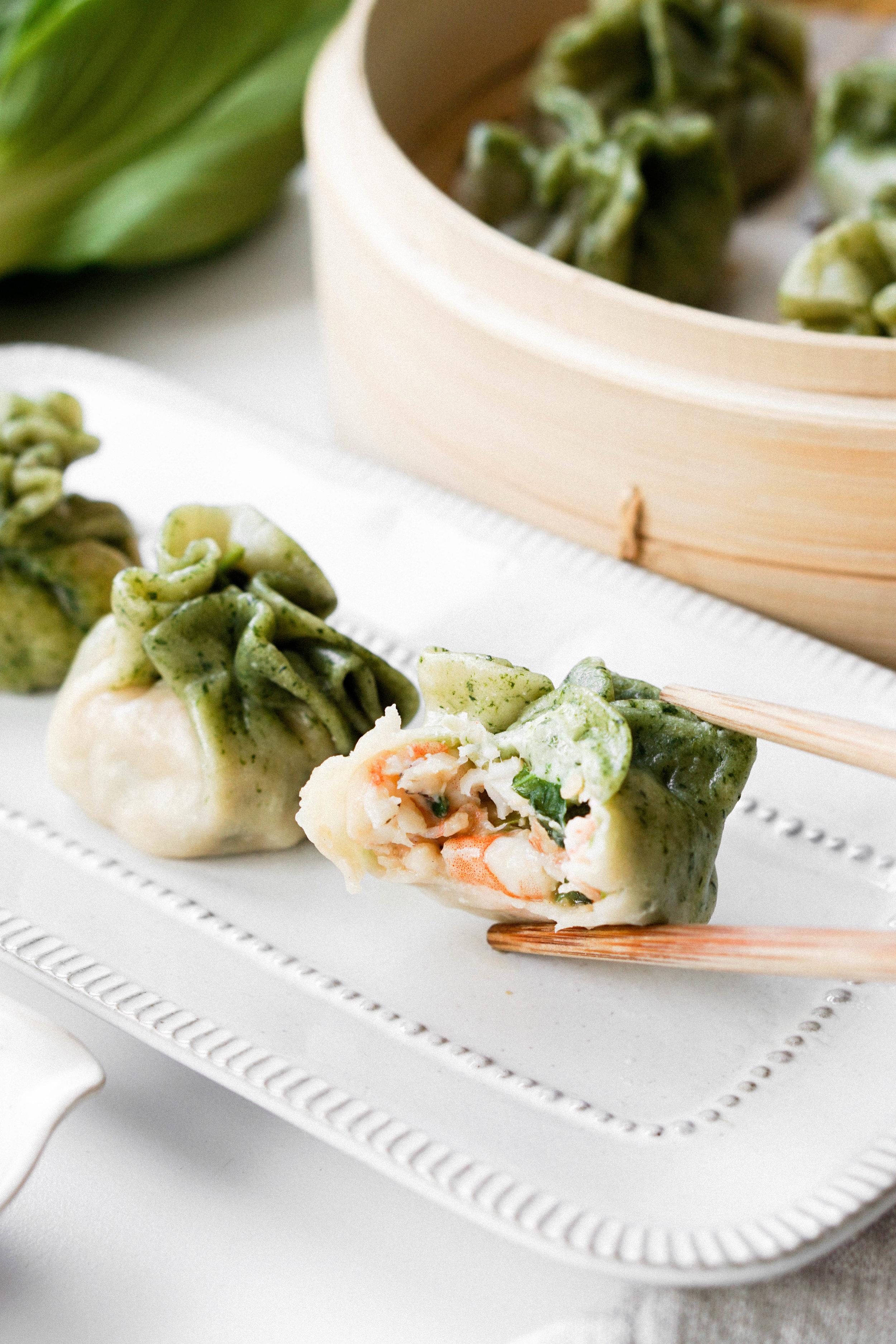 Bok Choy and Shrimp Dumplings // Eat Cho Food