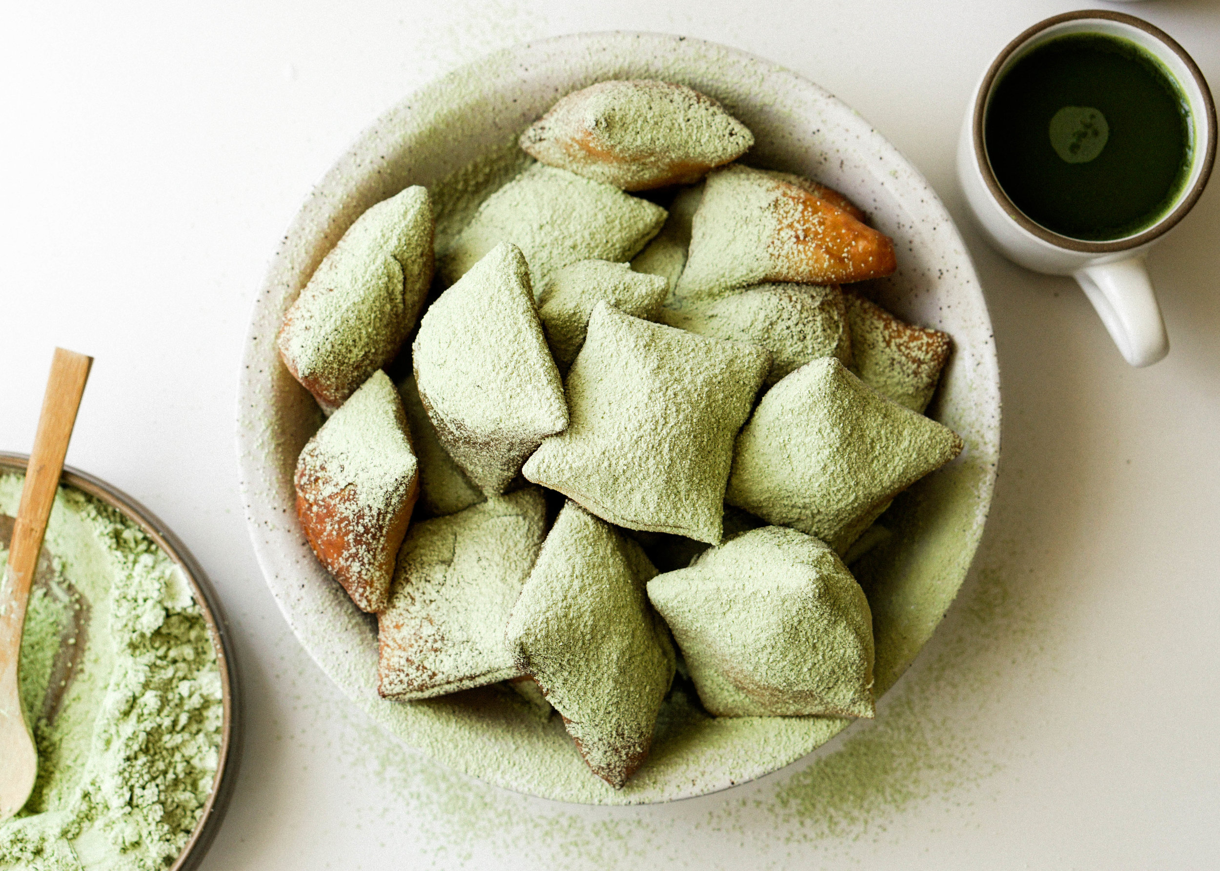 Matcha Beignets - Eat Cho Food