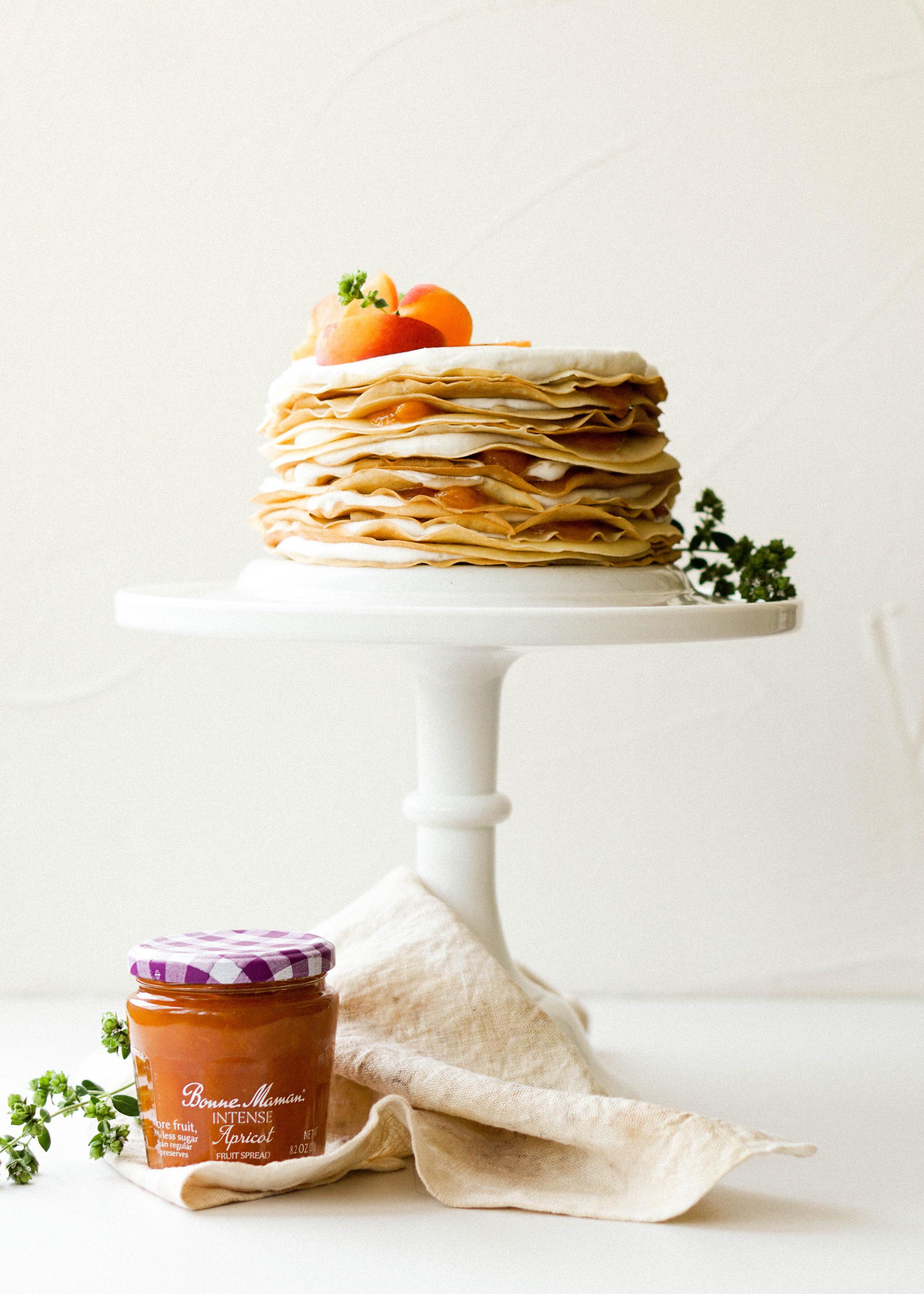 Apricot Jasmine Crepe Cake - Eat Cho Food