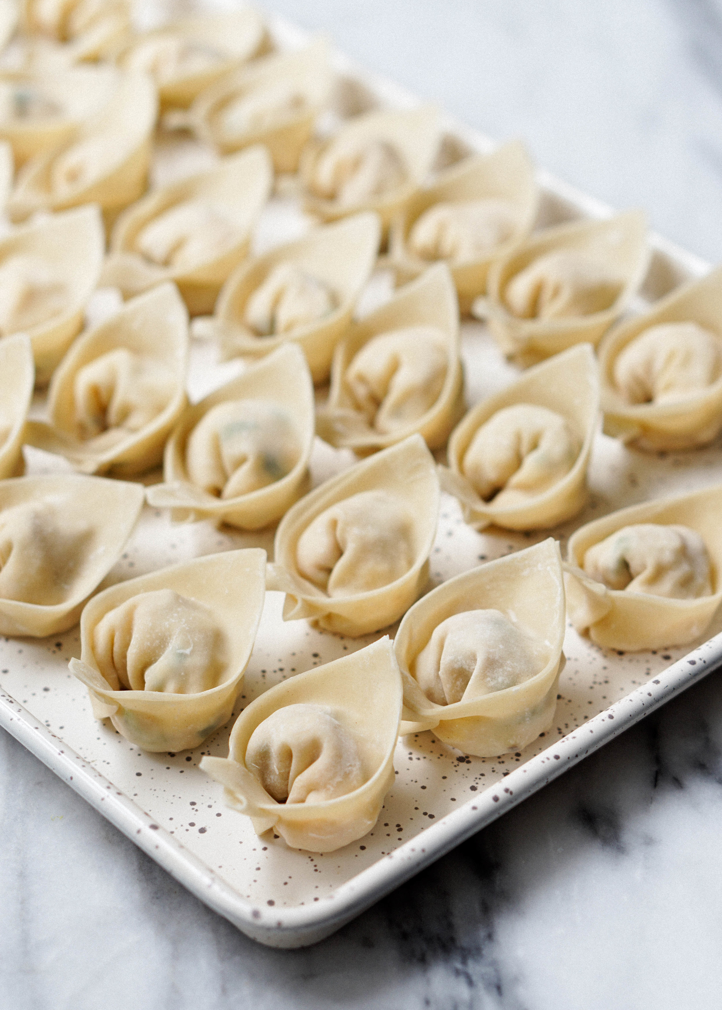 Crab and Corn Wontons with Tomato Butter Sauce - Eat Cho Food