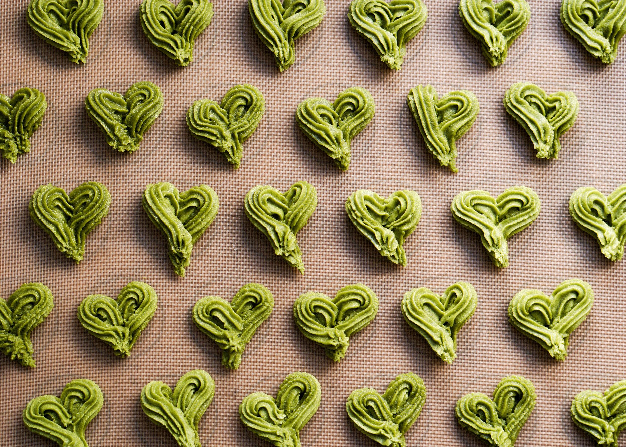 Matcha Butter Cookies Recipe - Eat Cho Food