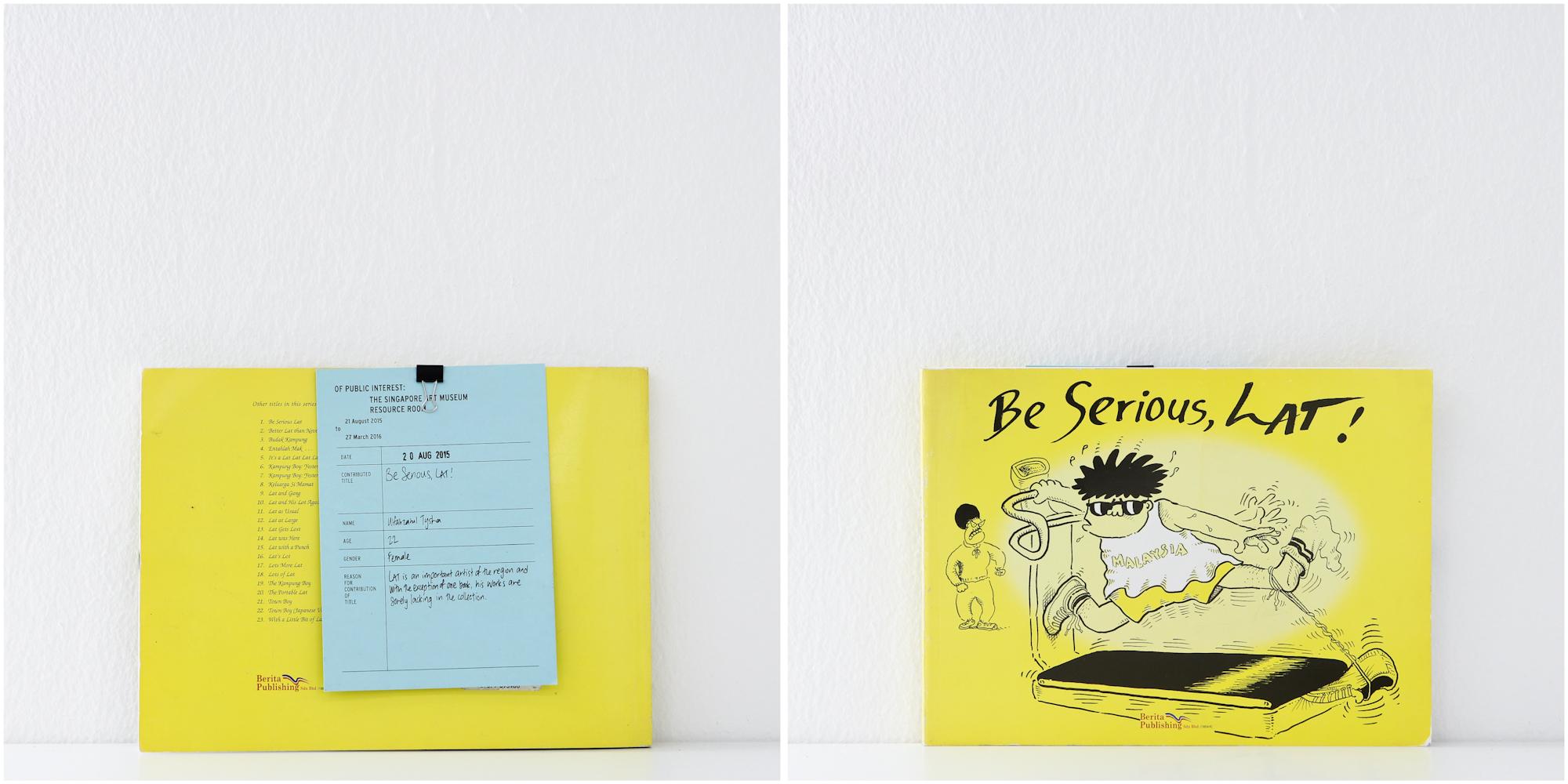 'Be Serious, Lat', 20/8/15, Ulfahzatul Tysha, 22, Female