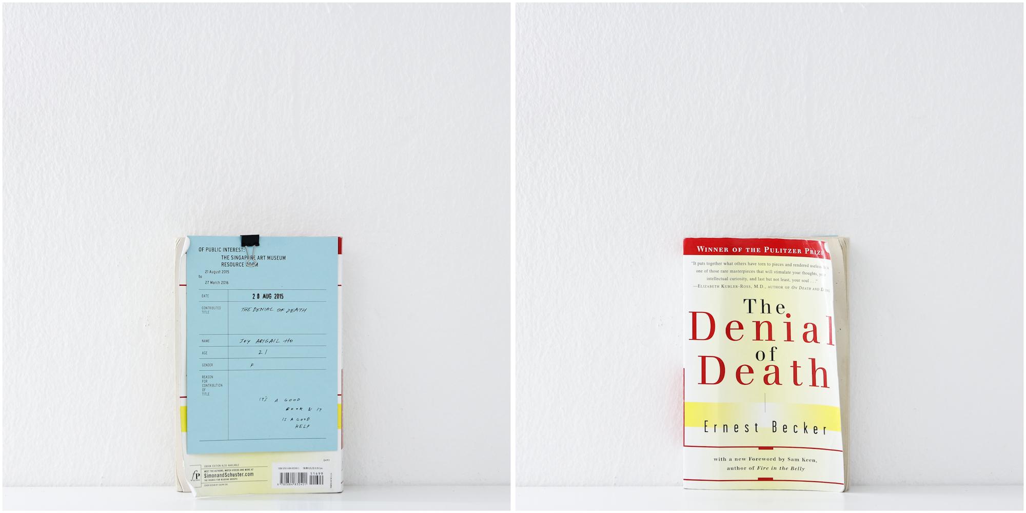 'The Denial of Death', 20/8/15, Joy Abigail Ho, 21, Female