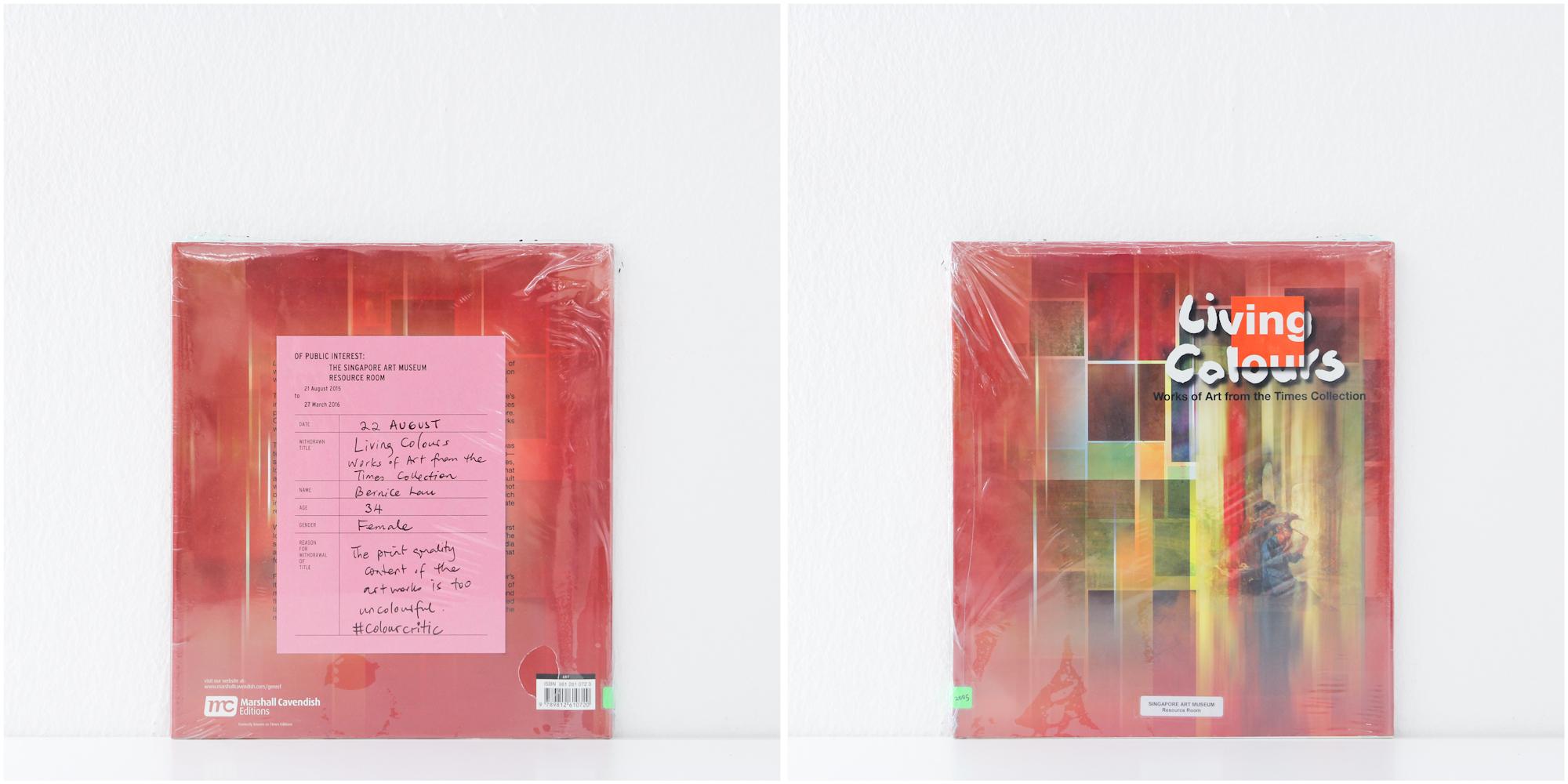 'Living Colours', 22/8/15, Bernice Lau, 34, Female