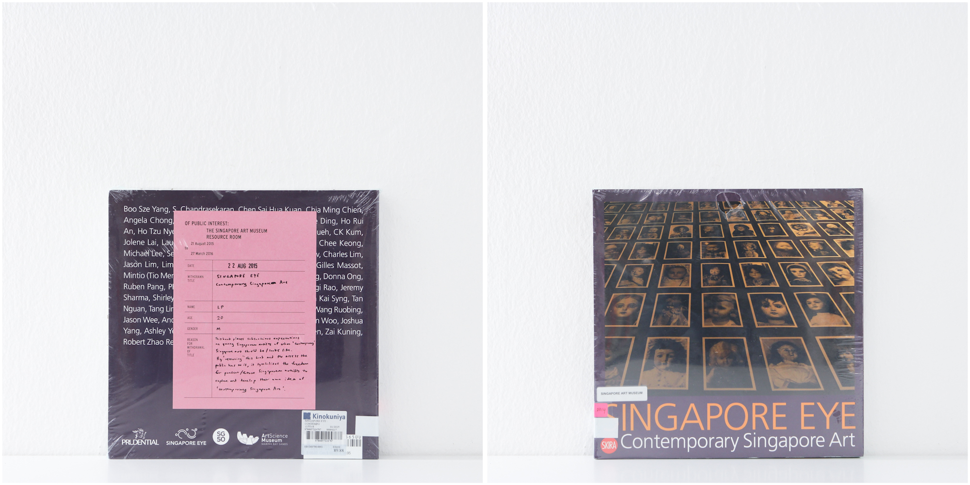 'Singapore Eye, Contemporary Singapore Art', 22/8/15, LP, 20, Male