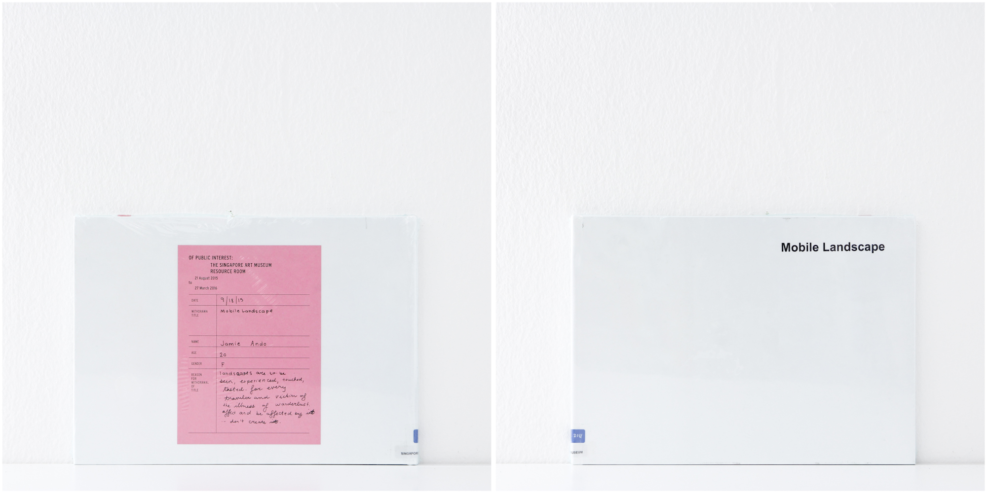 'Mobile Landscape', 18/9/15, Jamie Ando, 20, Female