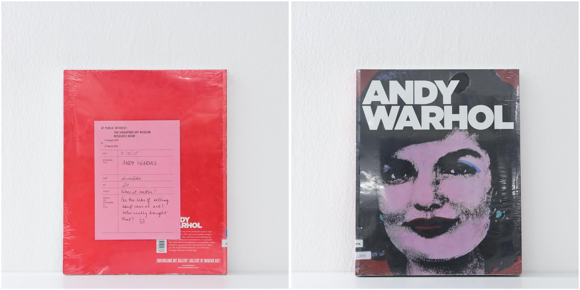 'Andy Warhol', 2/10/15, Avantika, 20, Female