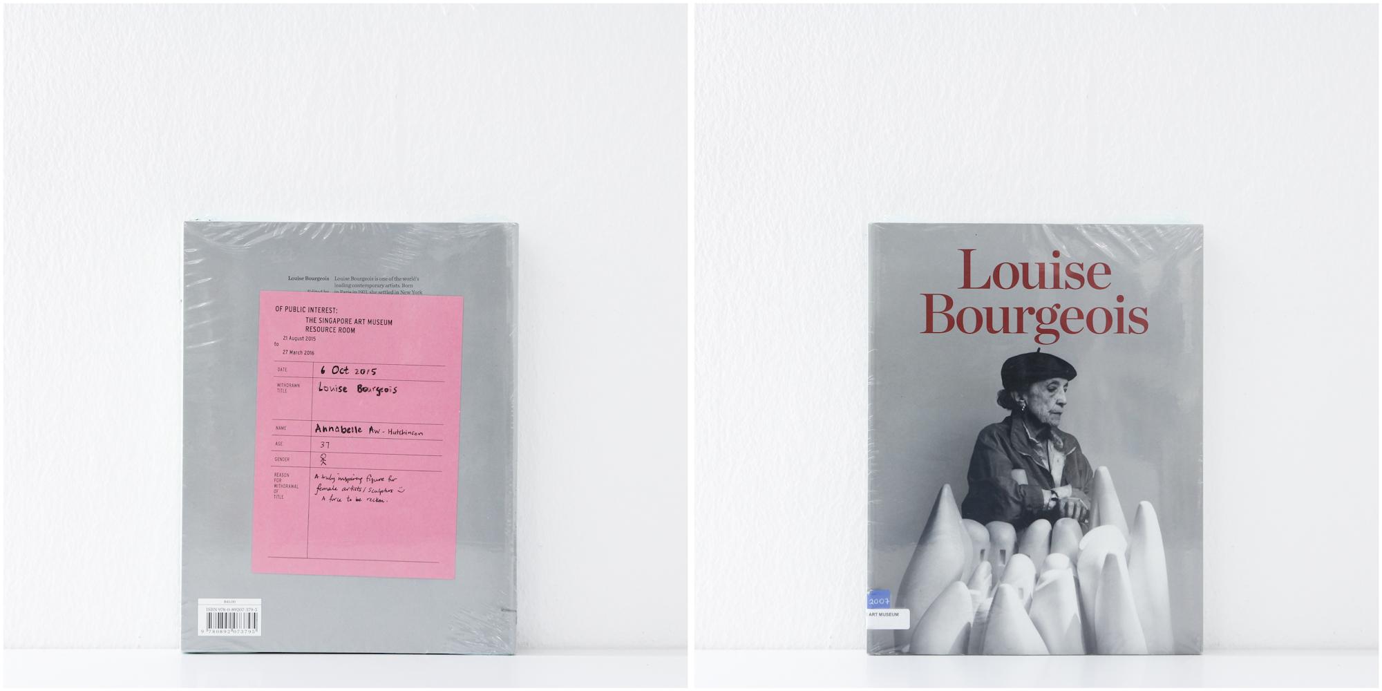 'Louise Bourgeois', 6/10/15, Annabelle Aw-Hutchinson, 37, Female