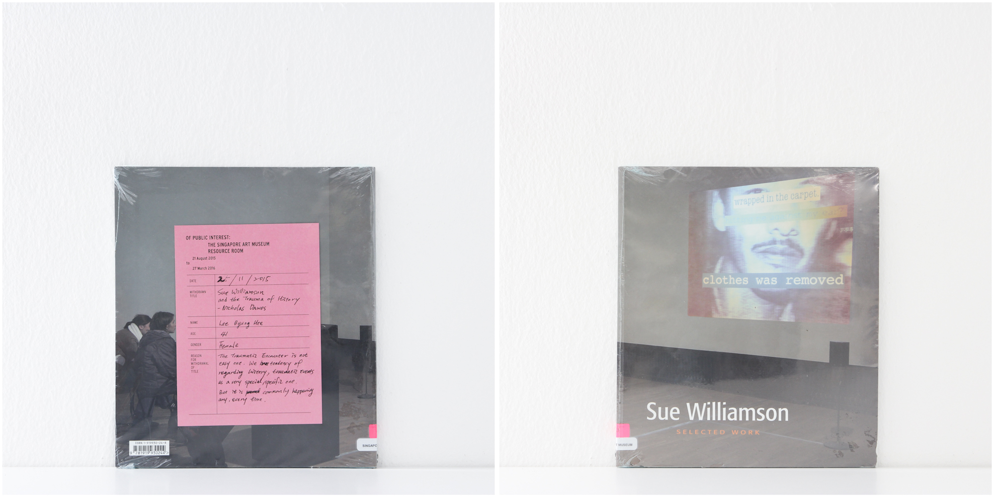 'Sue Williamson: Selected Work', 25/11/15, Lee Byung Hee, 41, Female