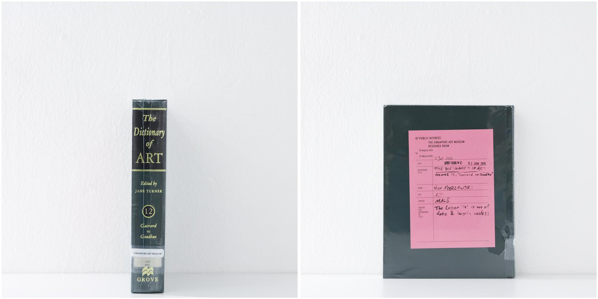 'The Dictionary of Art, No. 12', 2/1/16, Nick Modrzewski, 27, Male