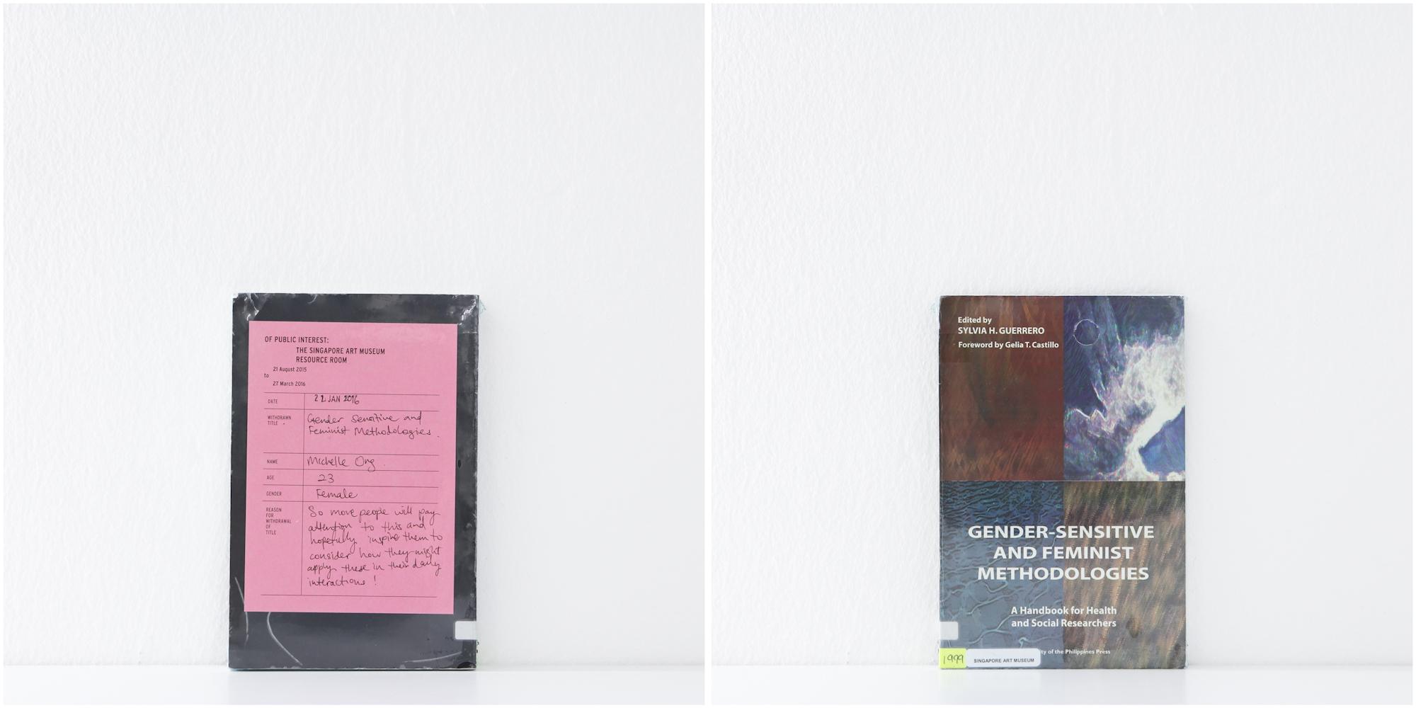'Gender-Sensitive And Feminist Methodologies', 22/1/16, Michelle Ong, 23, Female