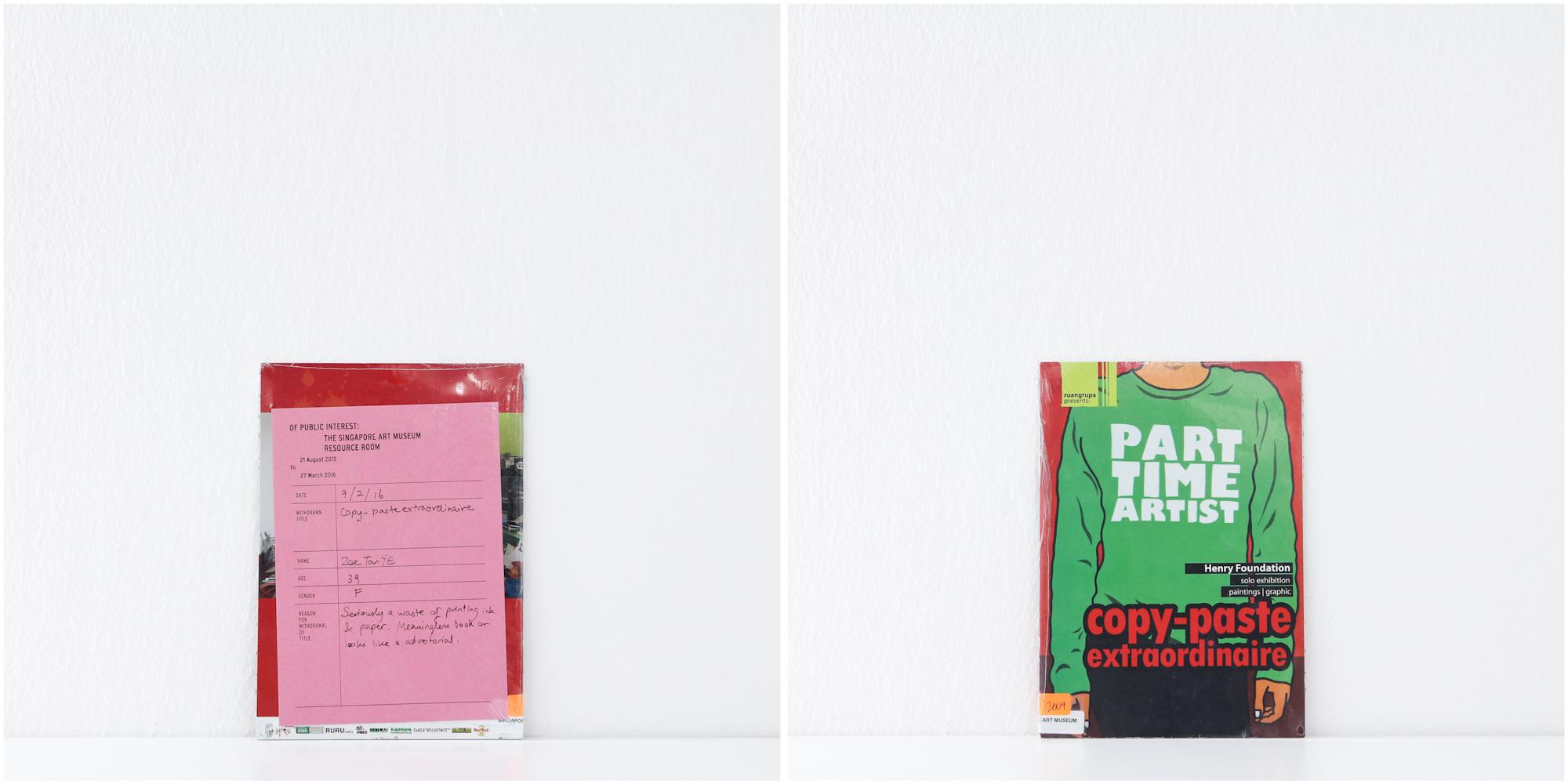 'Part Time Artist, Copy-Paste Extraordinaire', 9/2/16, Zoe Tan Ye, 39, Female