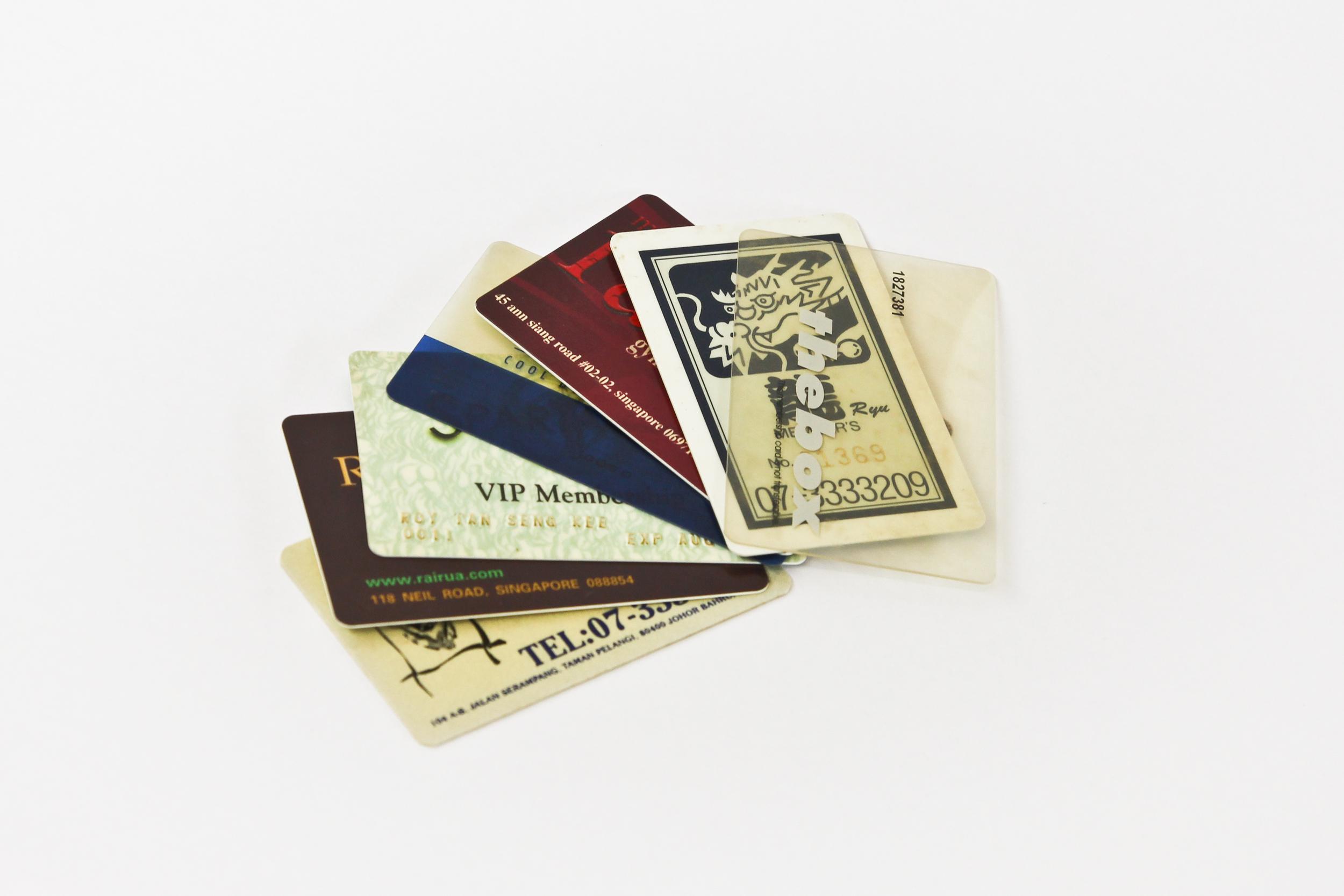 Sauna membership cards