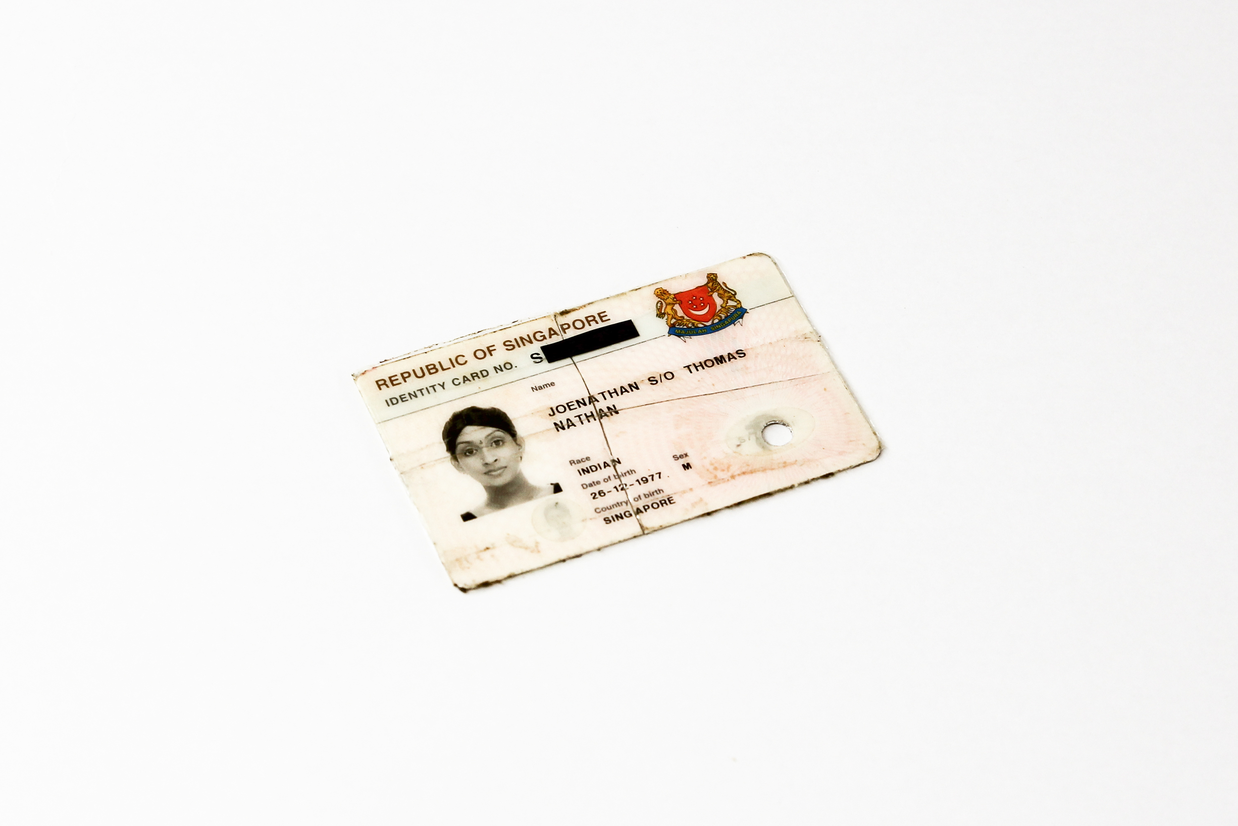 Voided identification card