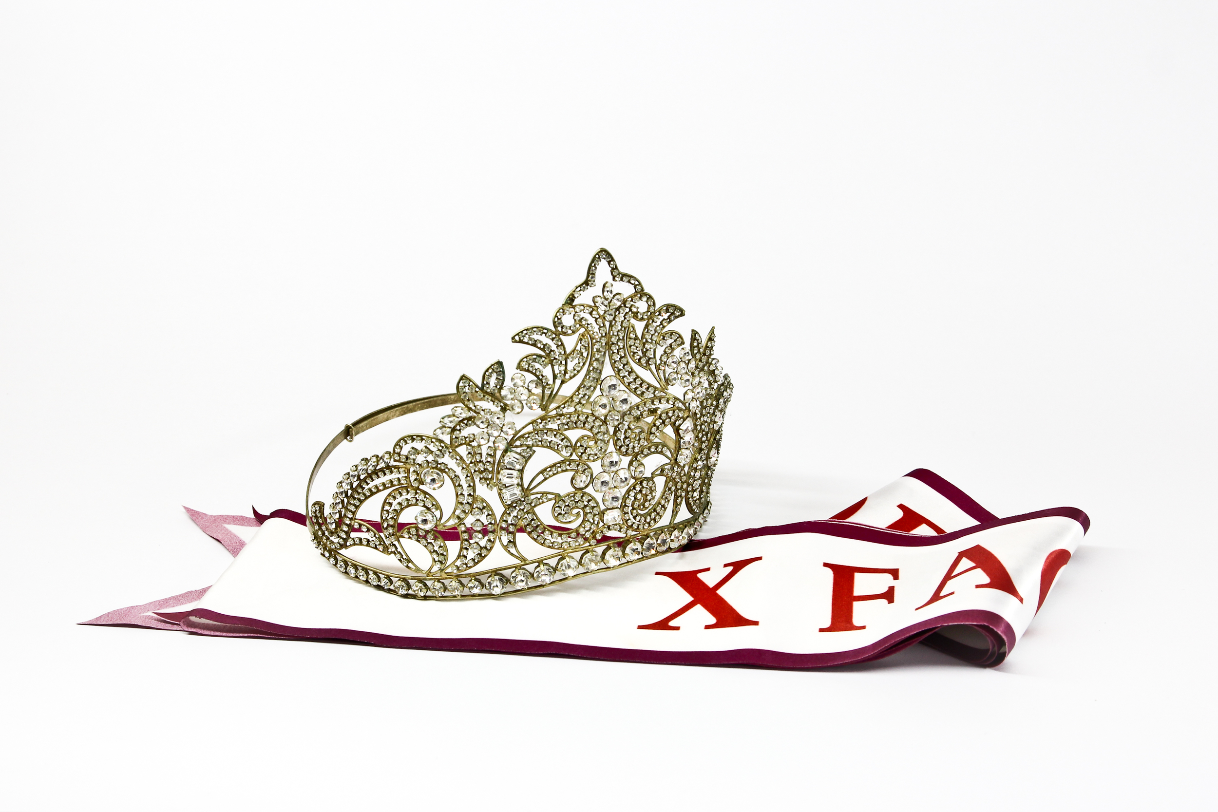 Beauty pageant sash and tiara
