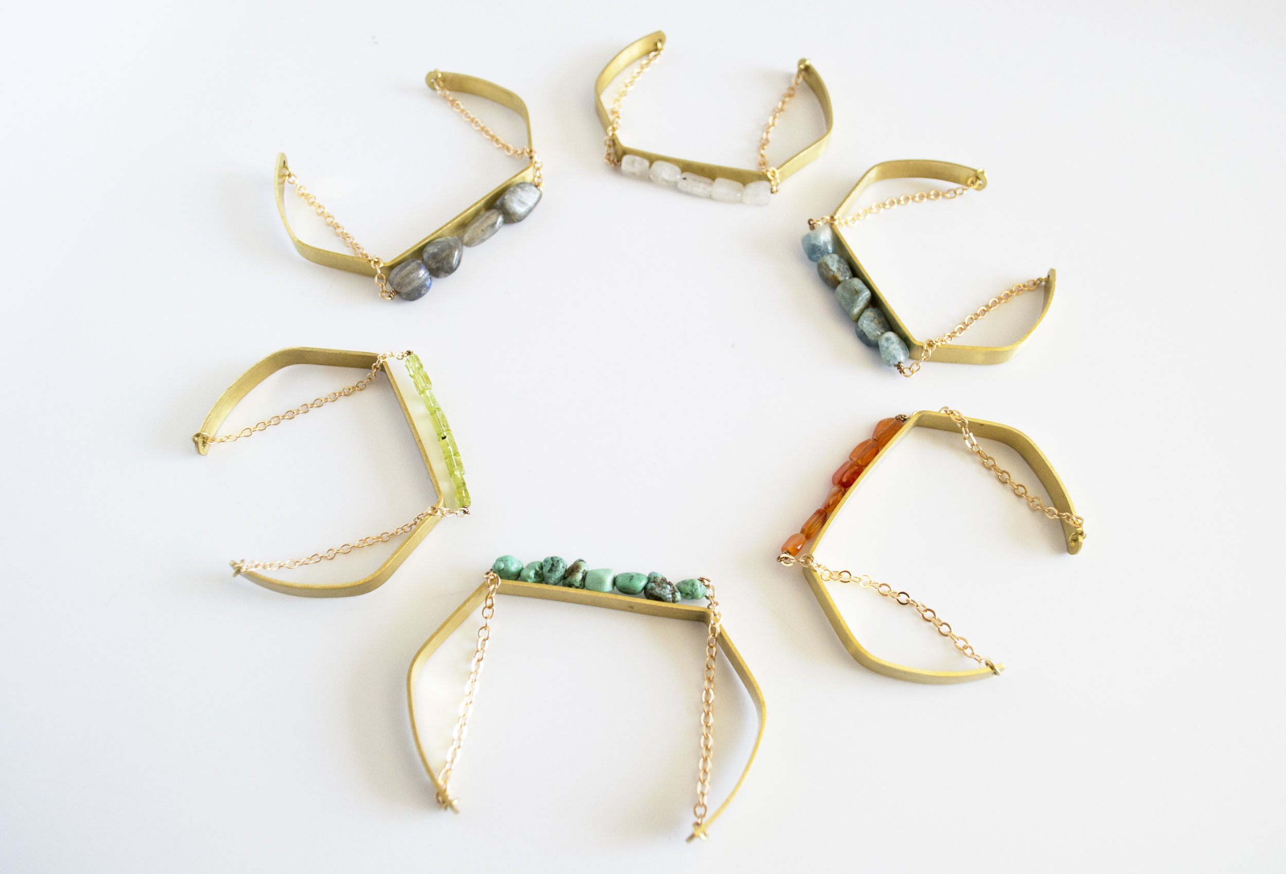 Crystal Cuff bracelets in assorted crystals