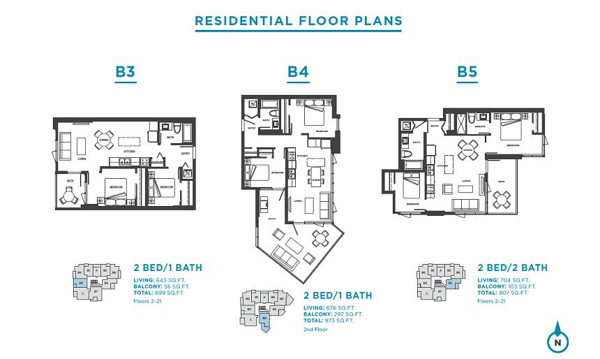 Plans: B3 / B4 / B5