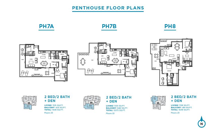 Plans: PH7A / PH7B / PH8