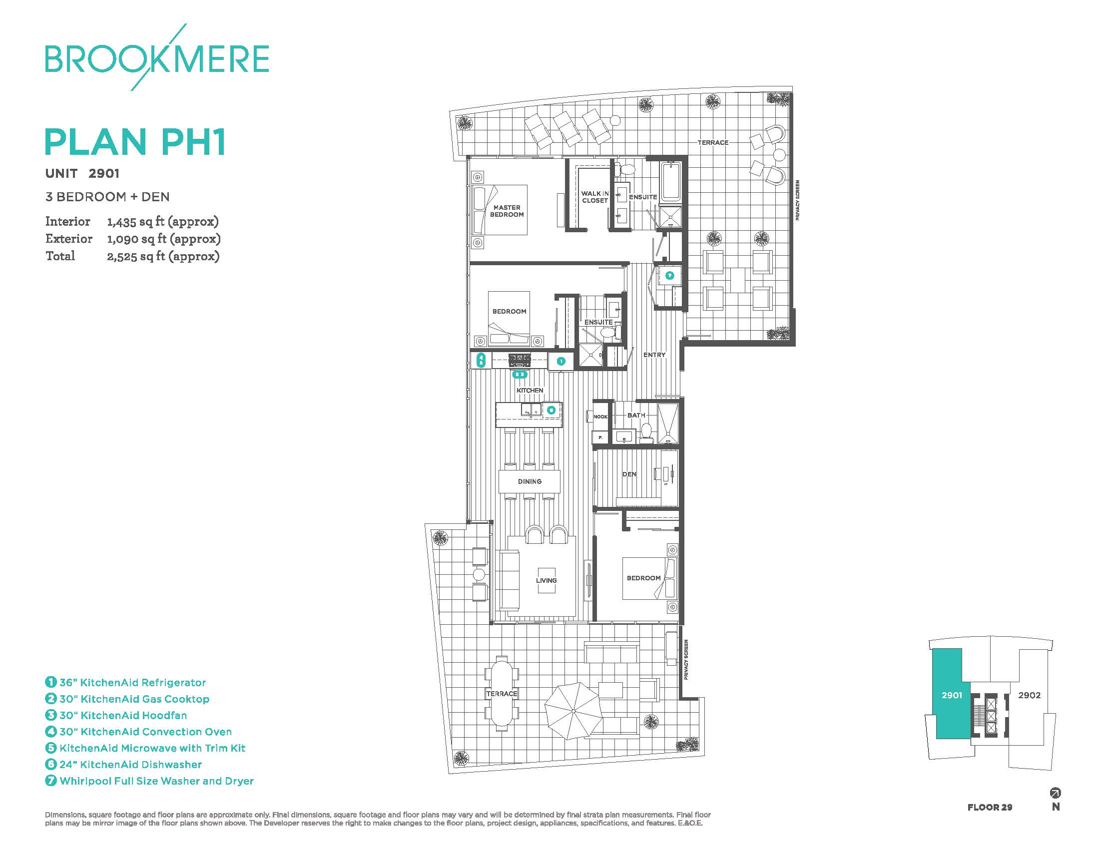 3 bed+den/3 bath - PH1