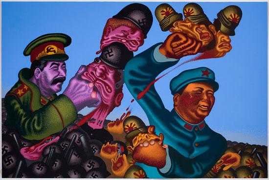 Stalin and Mao  Peter Saul