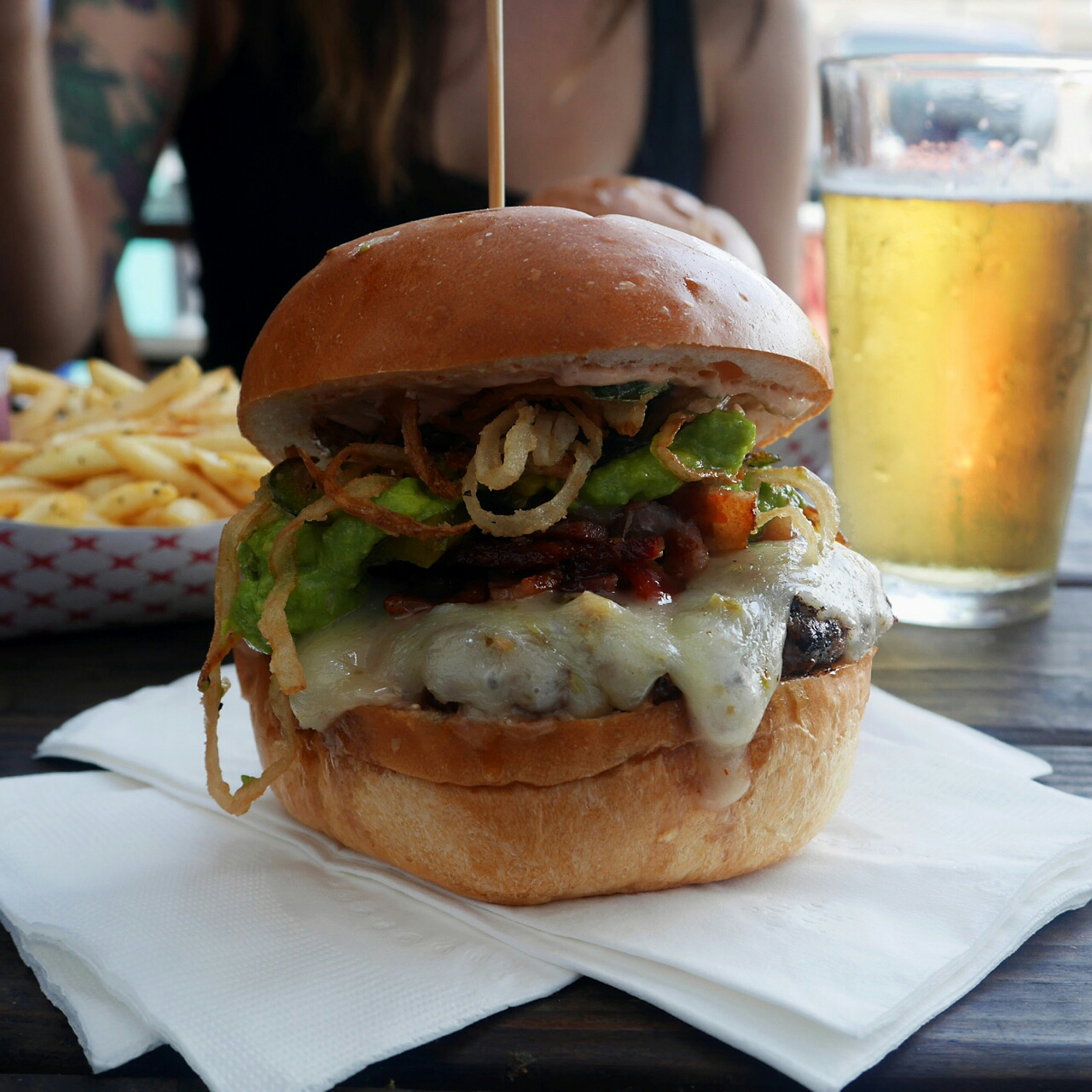 The Piñata Burger - Knuckle Sandwich