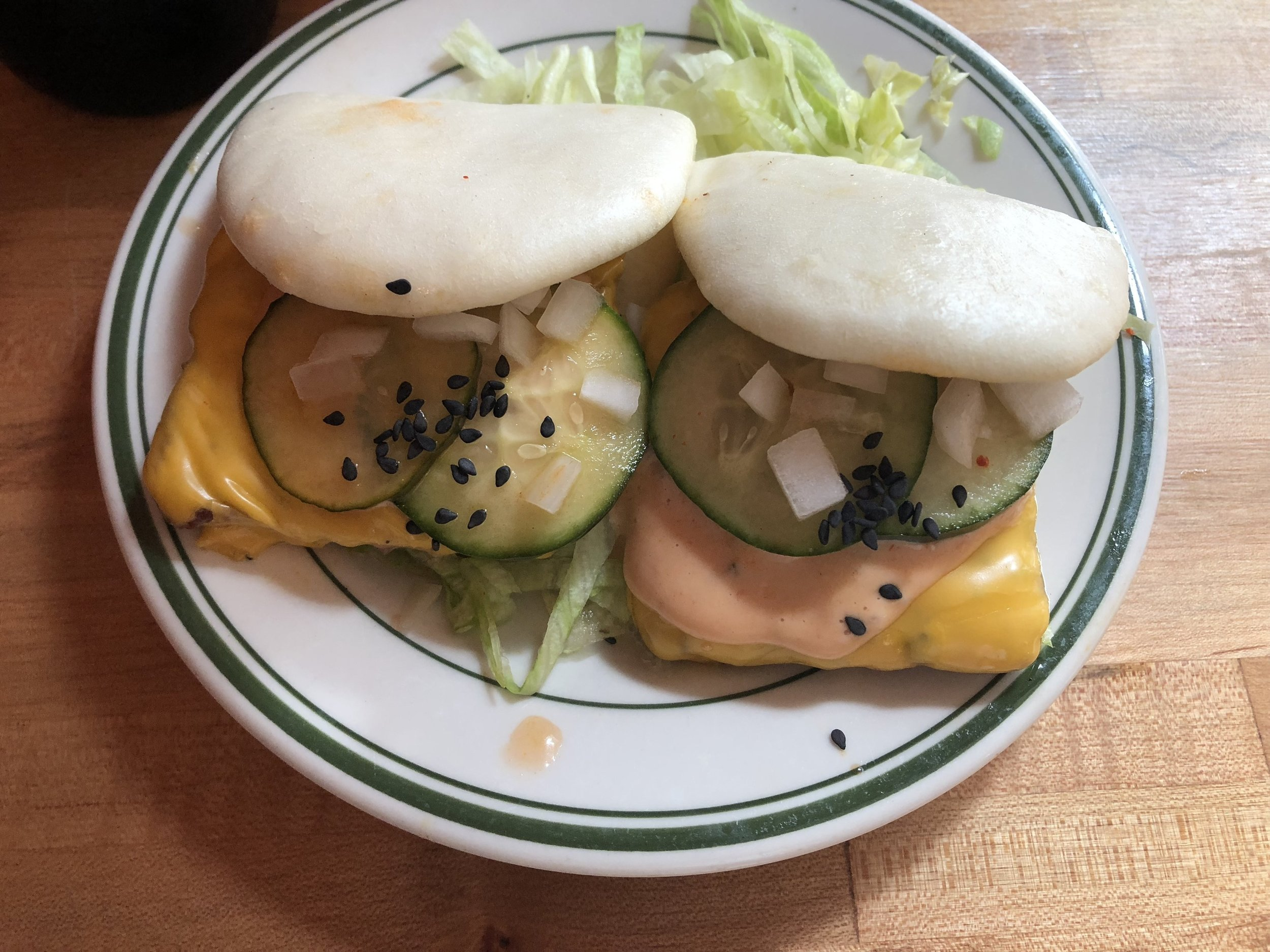 "Kim Jong Smokehouse ""Cheeseburger Steam Buns"""