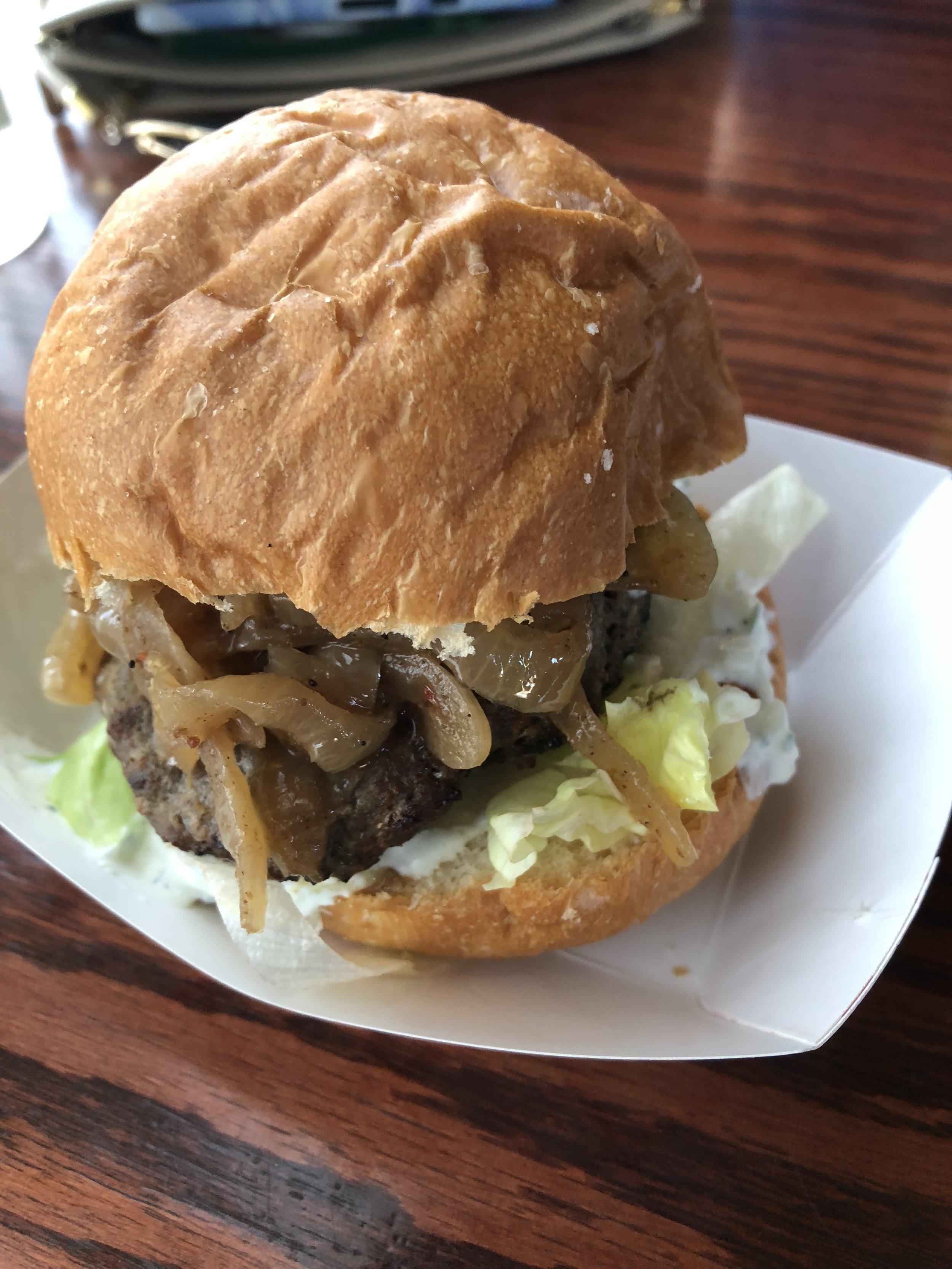 """Ya Hala's """"Beef Falafel"""" Burger"""