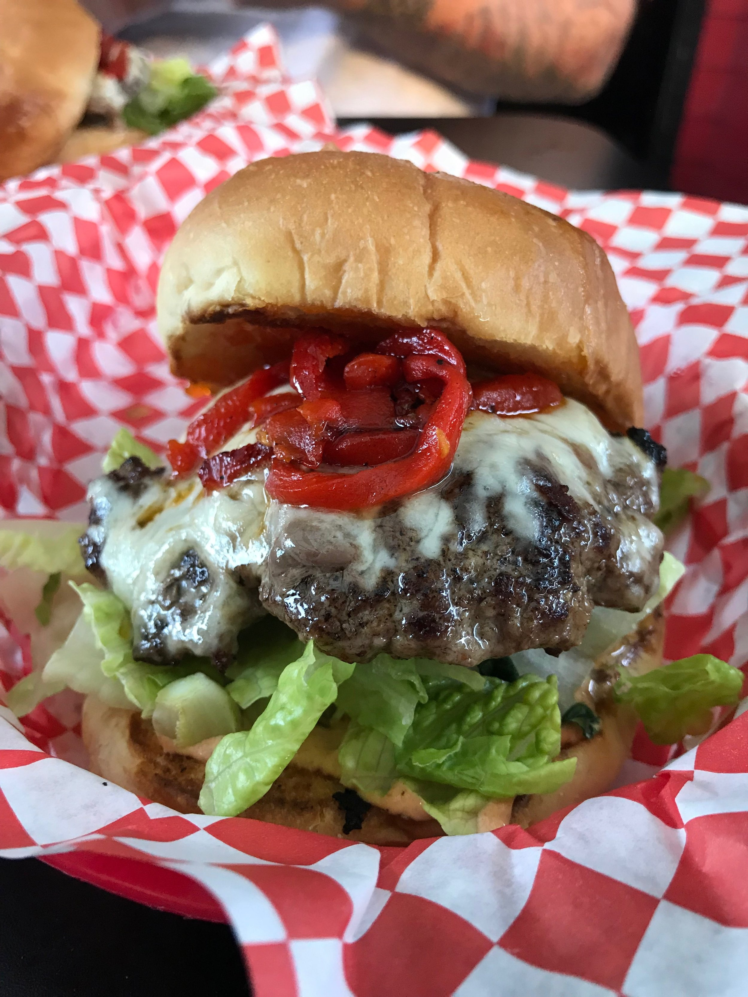 Lucky Devil's Hellfire Burger
