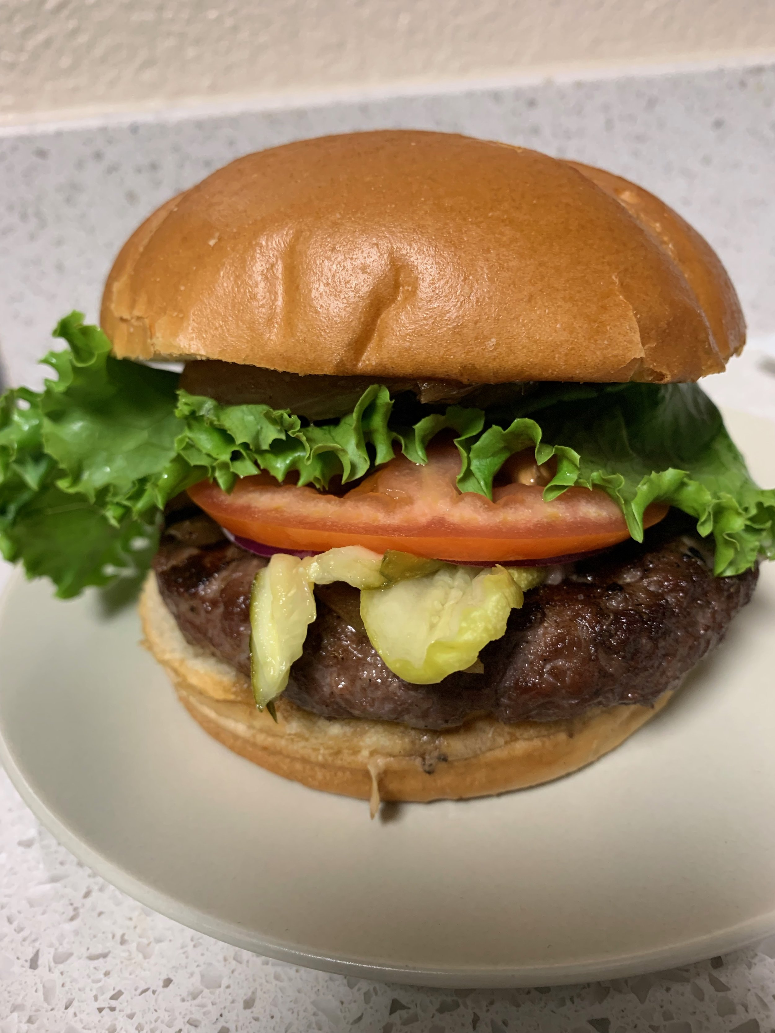Papa Mak's Stuffed Blue Cheese burger
