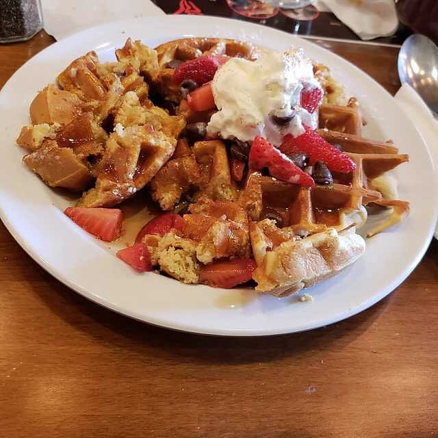 #WaffleWednesday!! When you start eating your food before taking the pic.