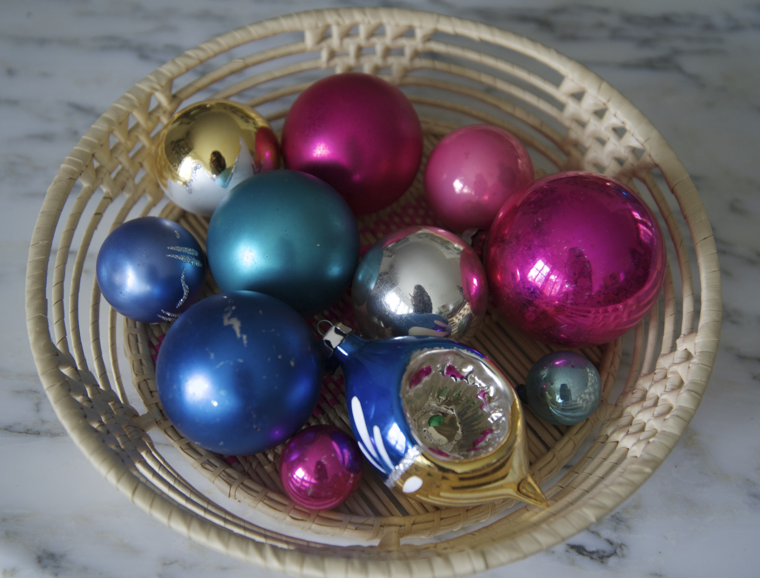 Lots of our ornaments are passed down from our family.