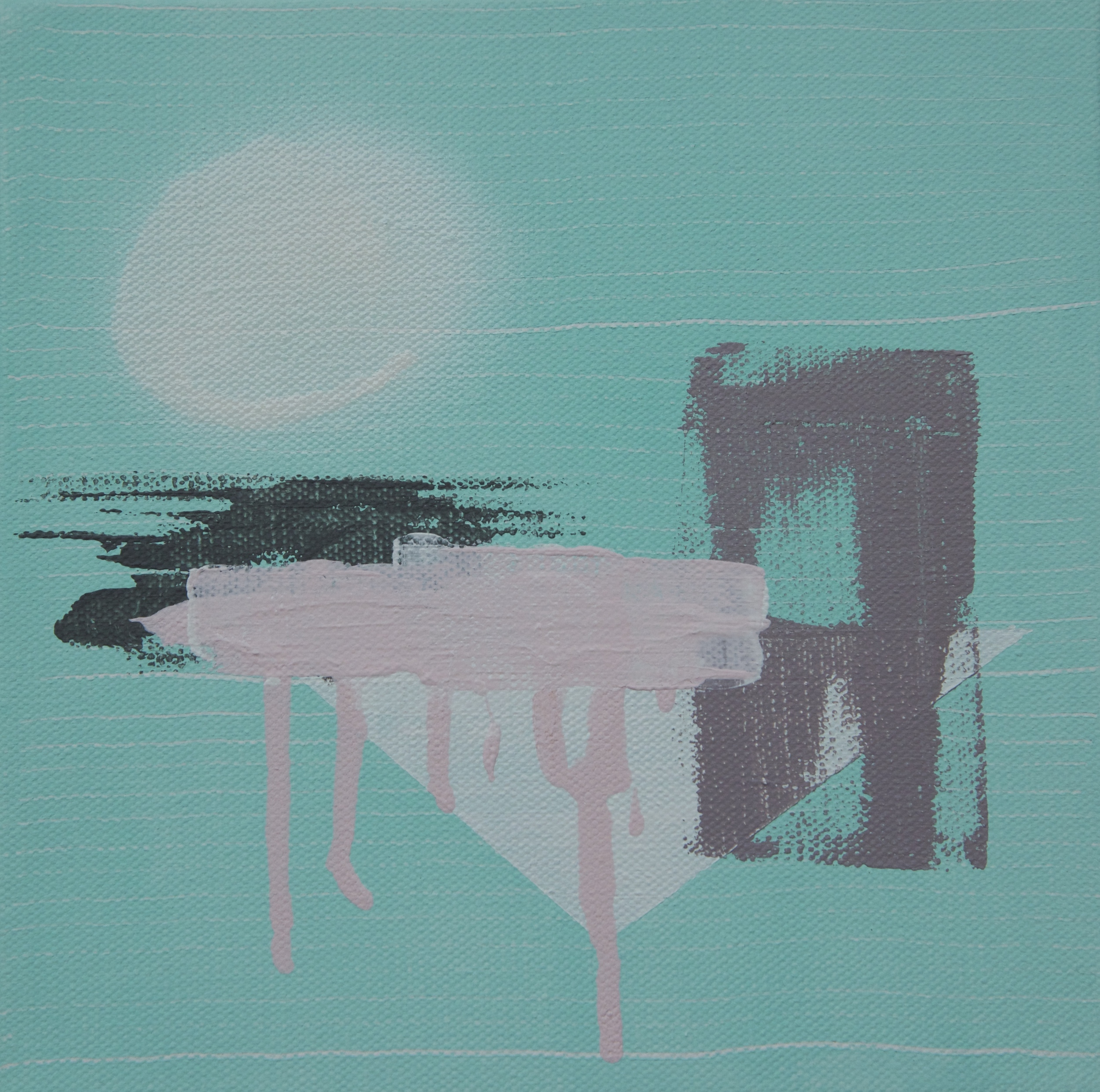 When this painting was created I was never happy with the pink on the top layer, the below painting is it in a new life.