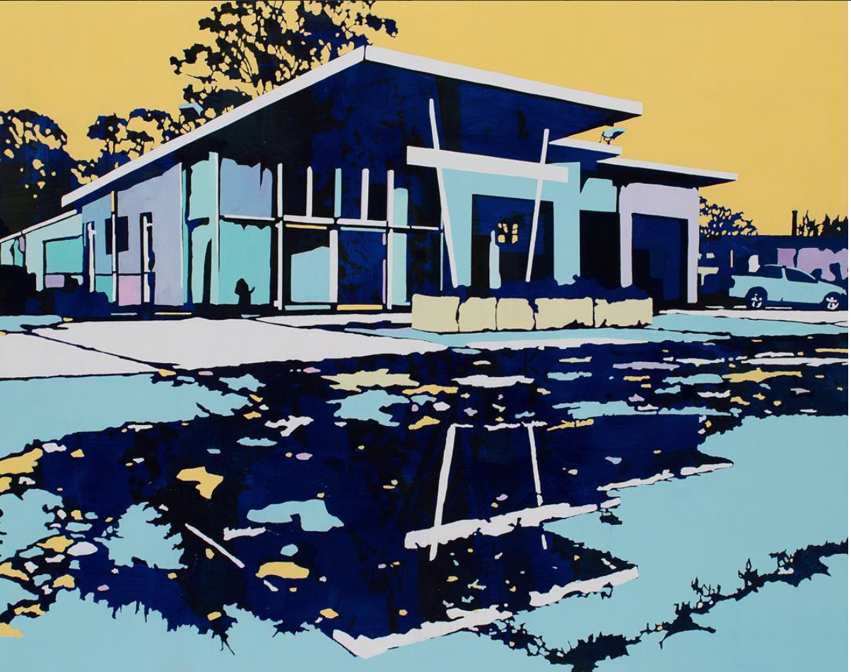 Paul Davies' paintings are mid century dreams. The colour palettes he uses are so unexpected and perfect in every way. He is Australian which makes me love him more.I have found so many creative artists and designers who are from down under.Check him out on Instagram  @pauldaviesartist